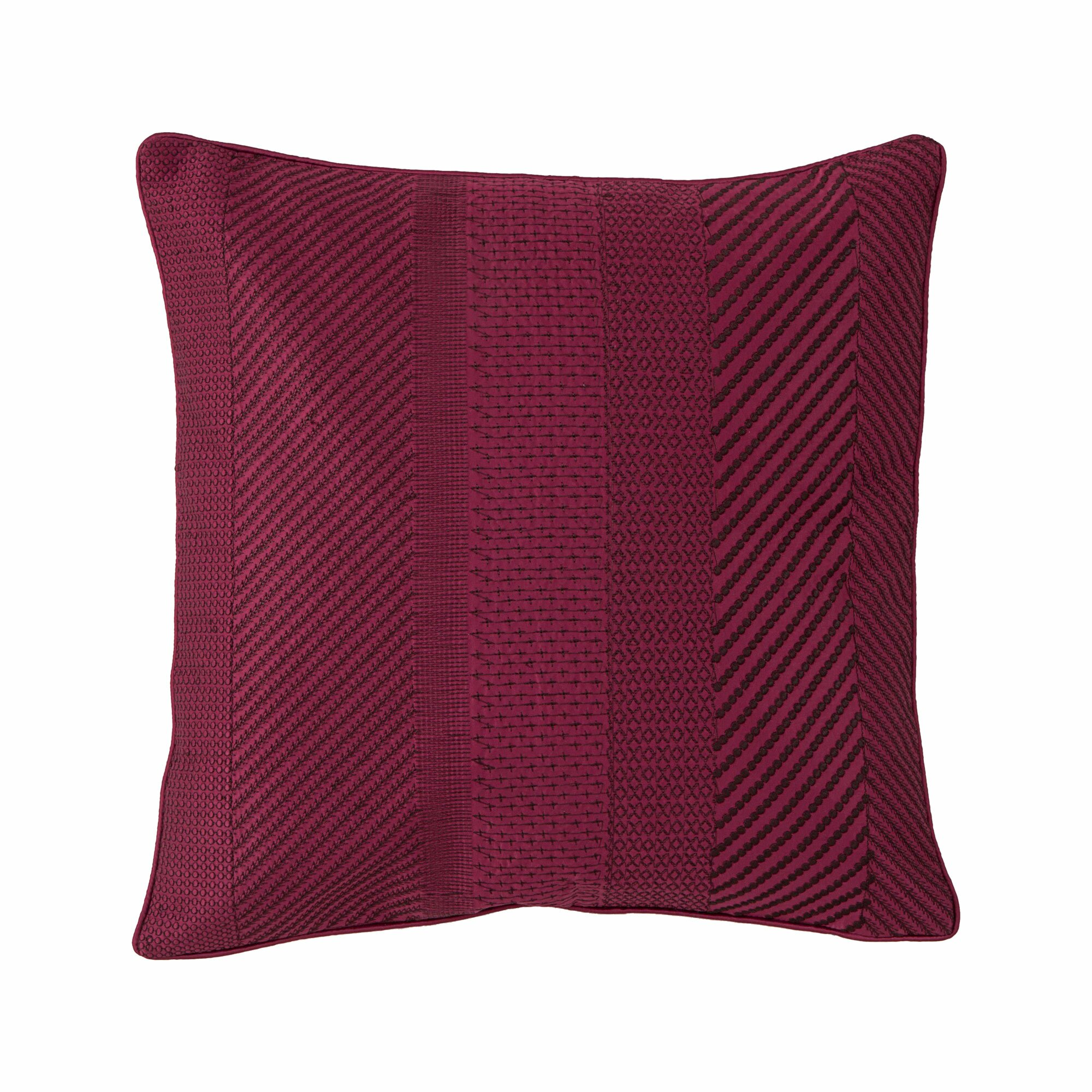 Embroidered Decorative Pillow : Collier Campbell Ziggurat Geo Embroidered Decorative Throw Pillow & Reviews Wayfair