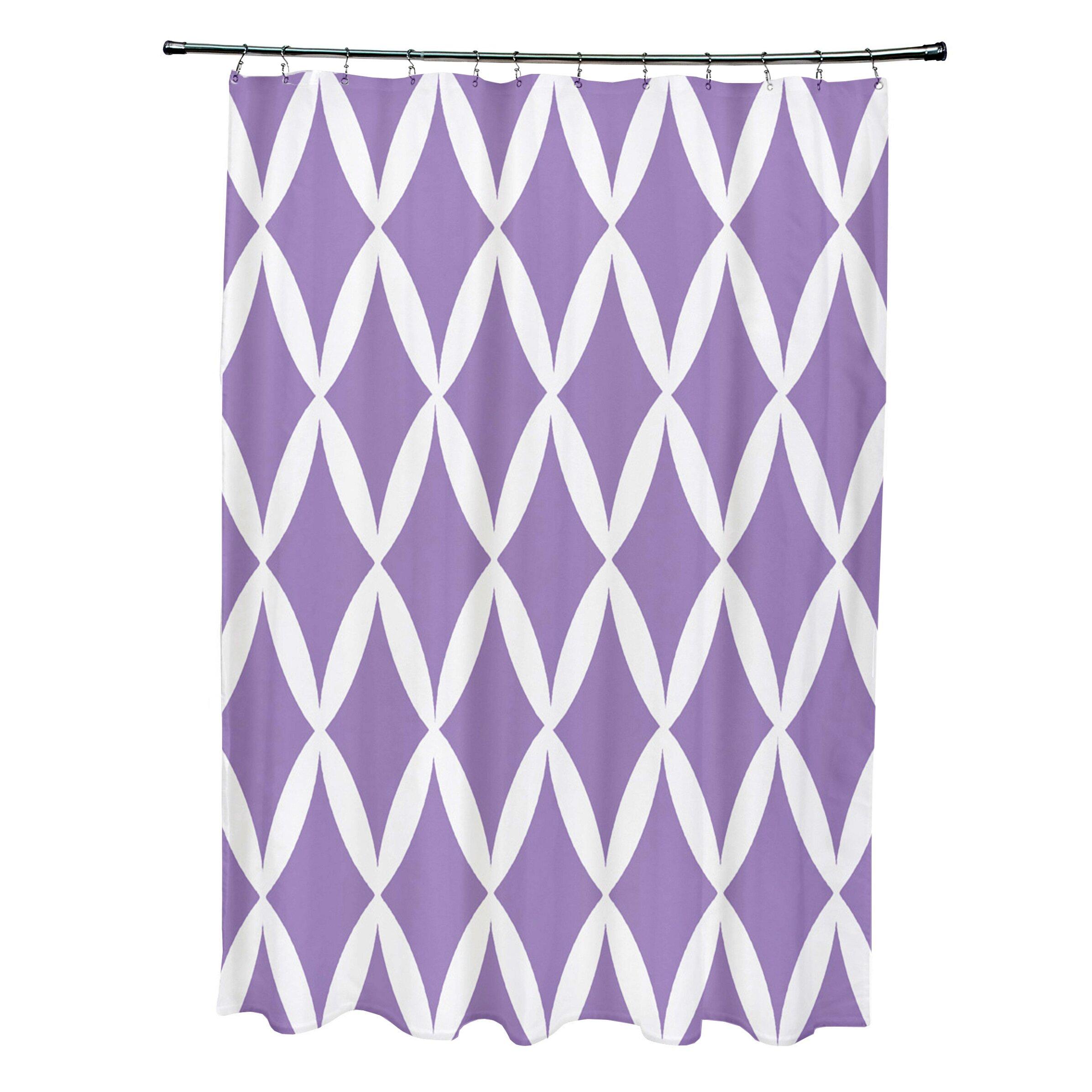 E By Design Geometric Shower Curtain Wayfair