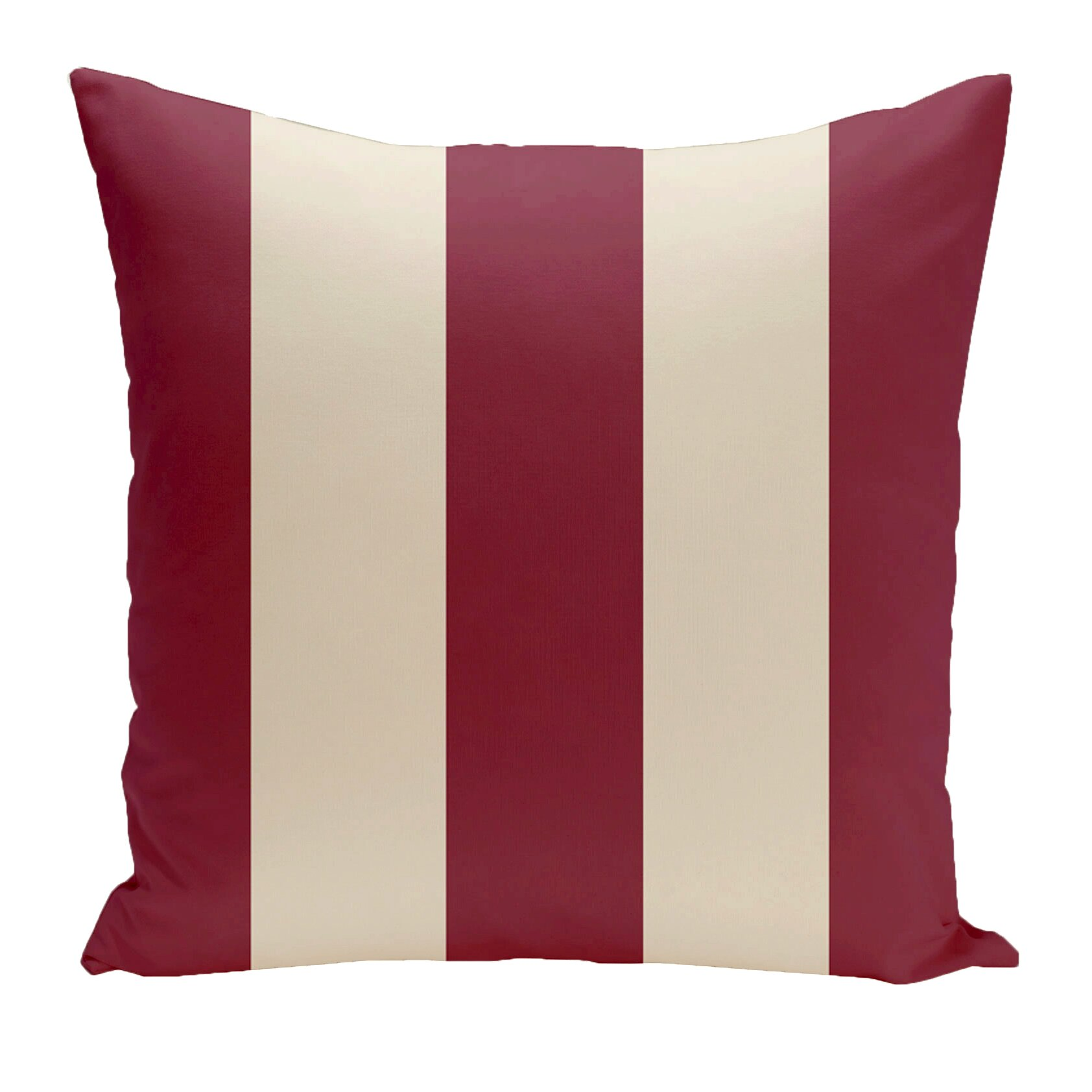 e by design Holiday Brights Striped Throw Pillow & Reviews Wayfair