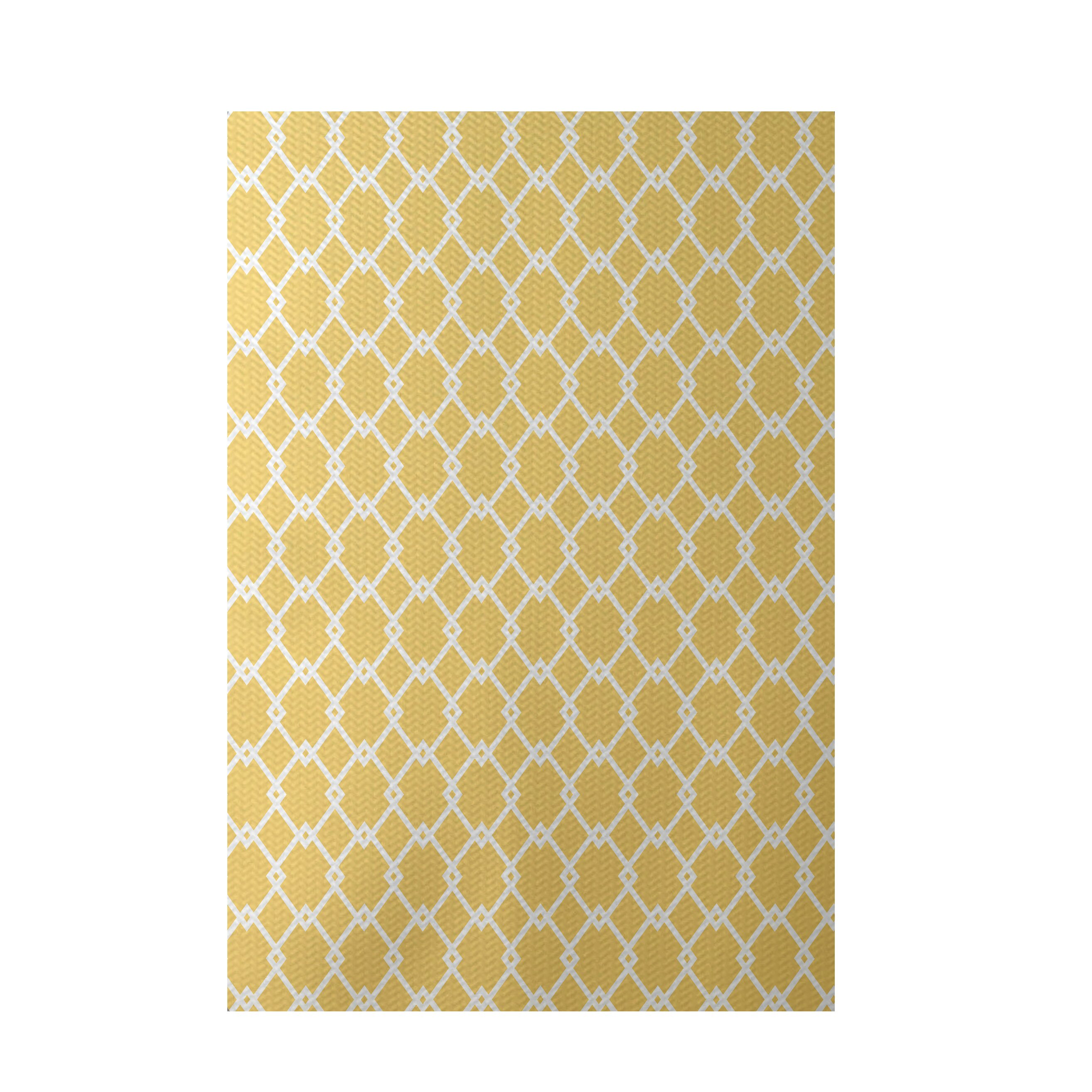Yellow Outdoor Rug Arabesque Indoor
