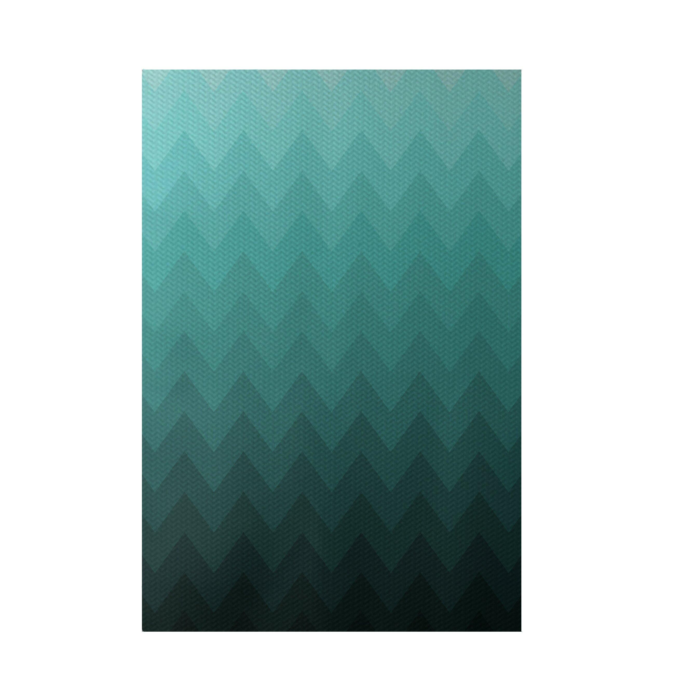 E By Design Chevron Aqua Indoor/Outdoor Area Rug & Reviews