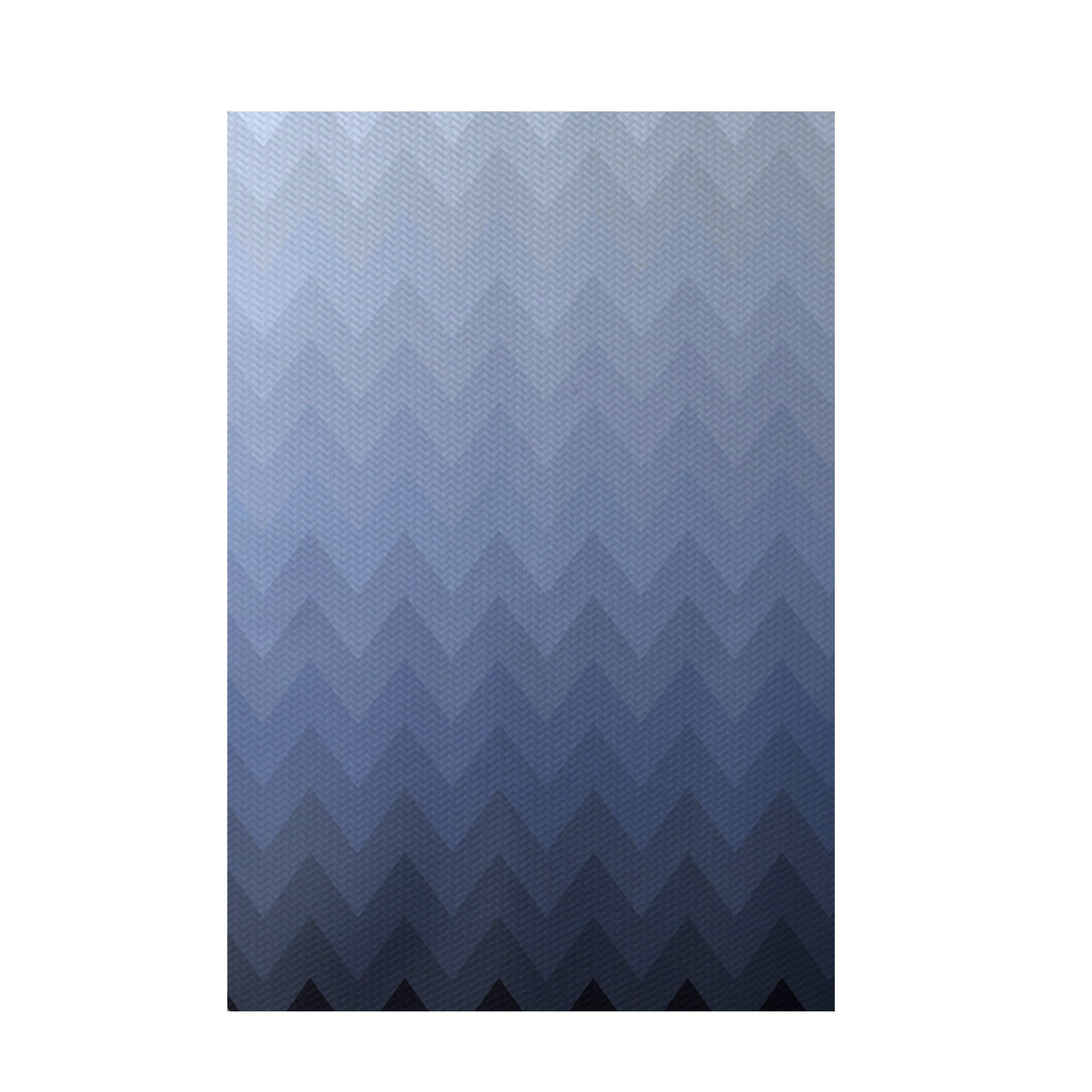 e by design Chevron Blue Indoor Outdoor Area Rug