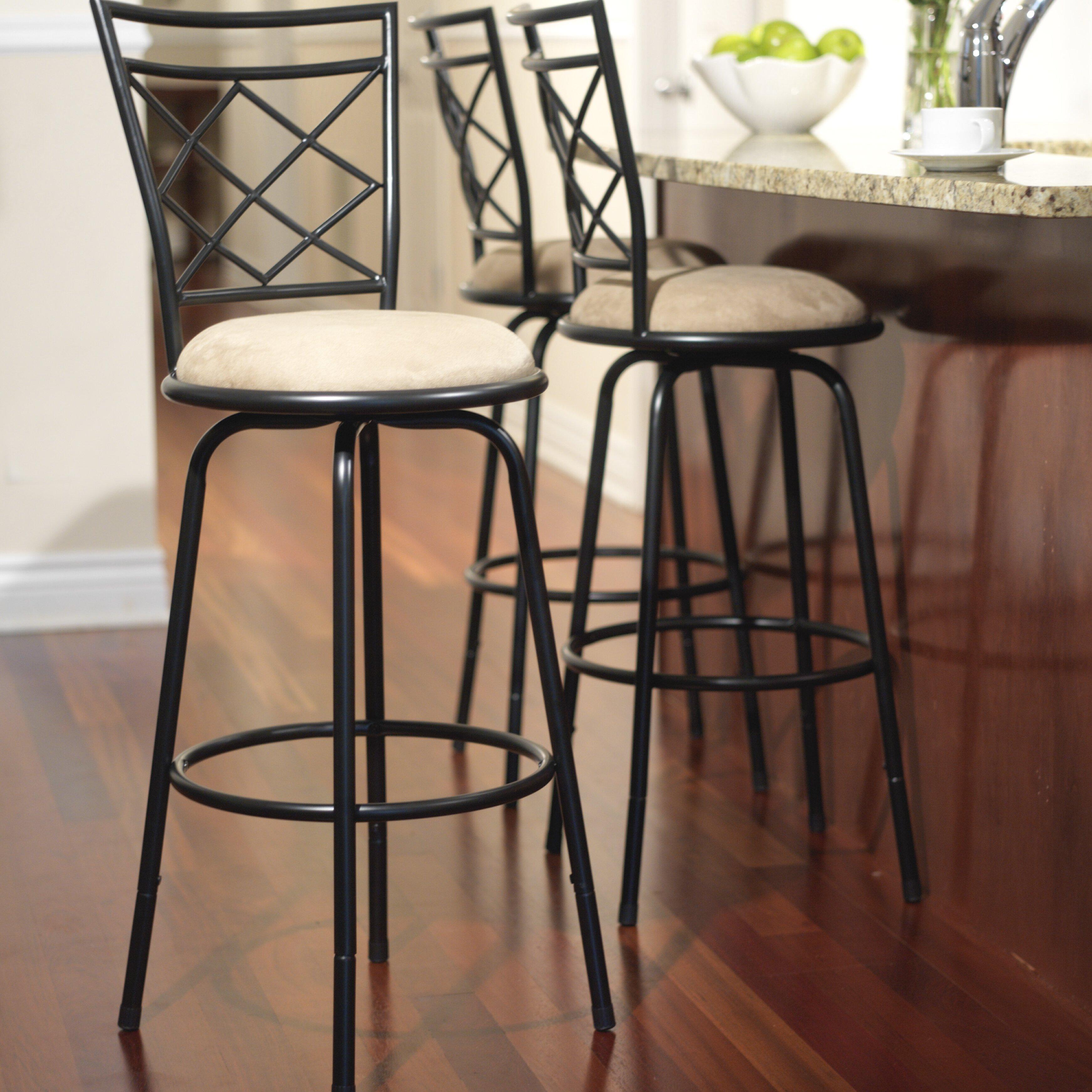 3 Adjustable Swivel Bar Stool Set Counter Height Kitchen: TMS Avery Adjustable Height Swivel Bar Stool & Reviews