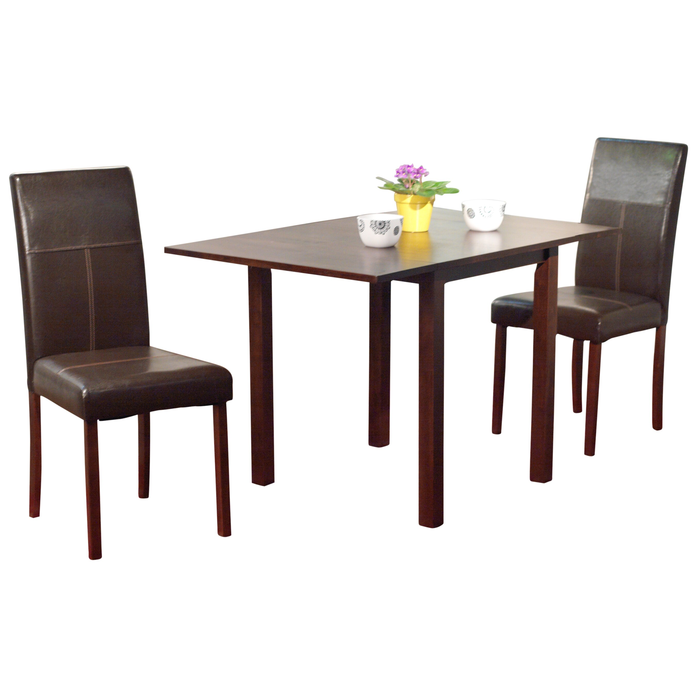 Brayden Studio Lorenzen 3 Piece Dining Set Reviews Wayfair
