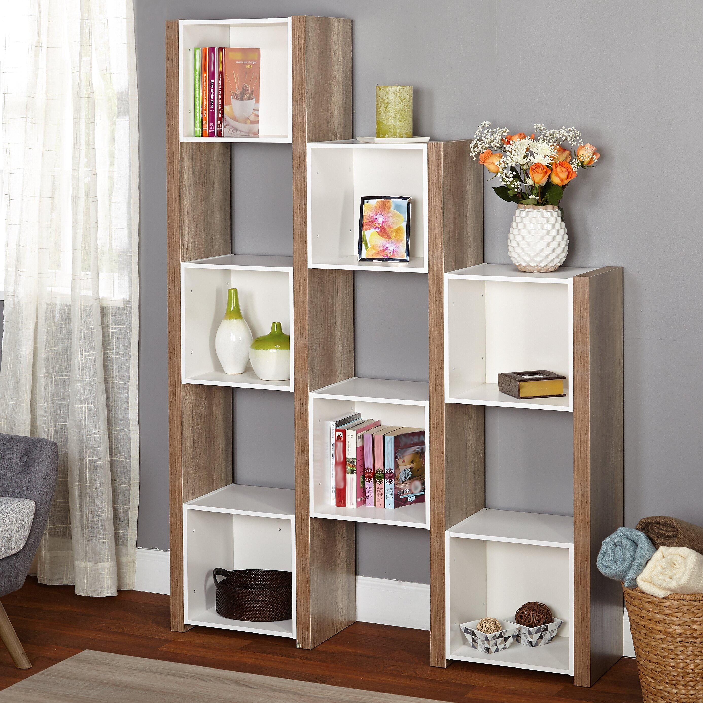 tms urban 71 cube unit bookcase reviews wayfair. Black Bedroom Furniture Sets. Home Design Ideas
