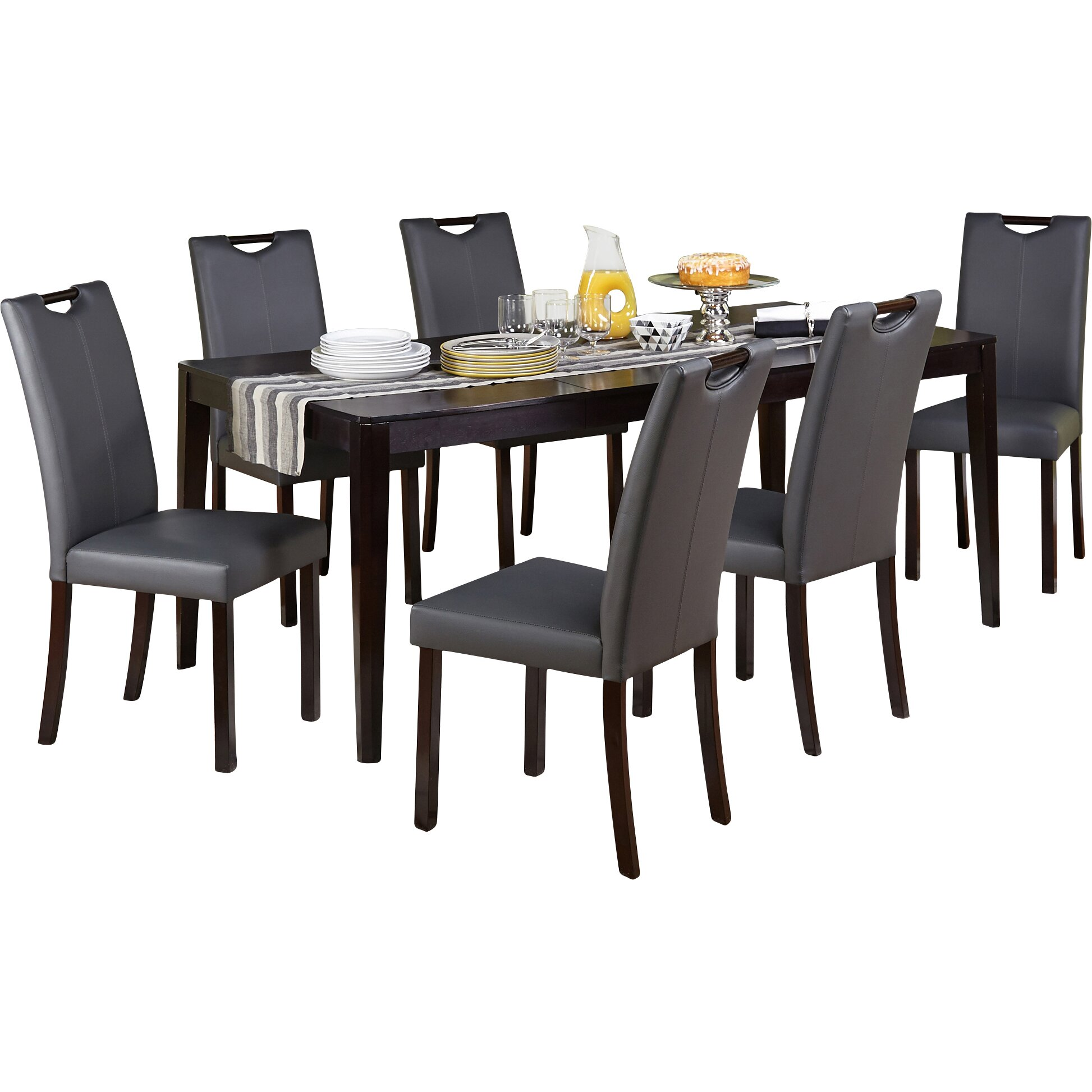 Tms tilo 7 piece dining set reviews wayfair for 7 piece dining room set