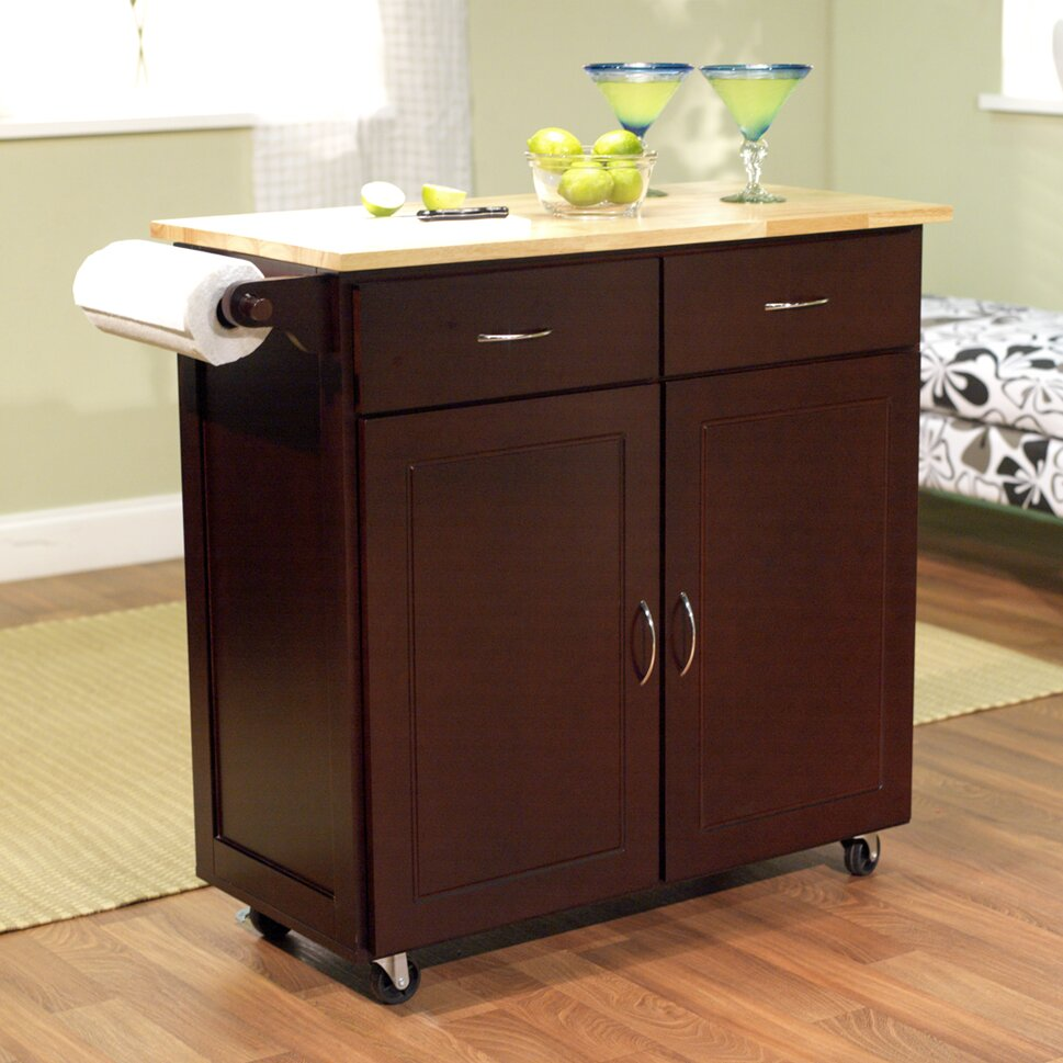 Portable Kitchen Island Style: TMS Venice Kitchen Island With Wood Top & Reviews