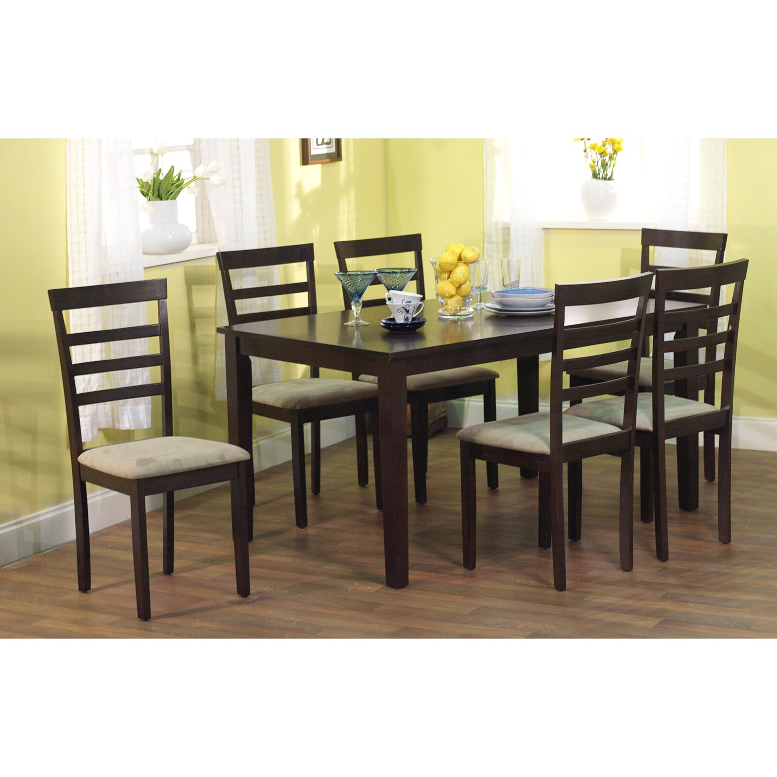 Tms havana 7 piece dining set reviews wayfair for 7 piece dining room set