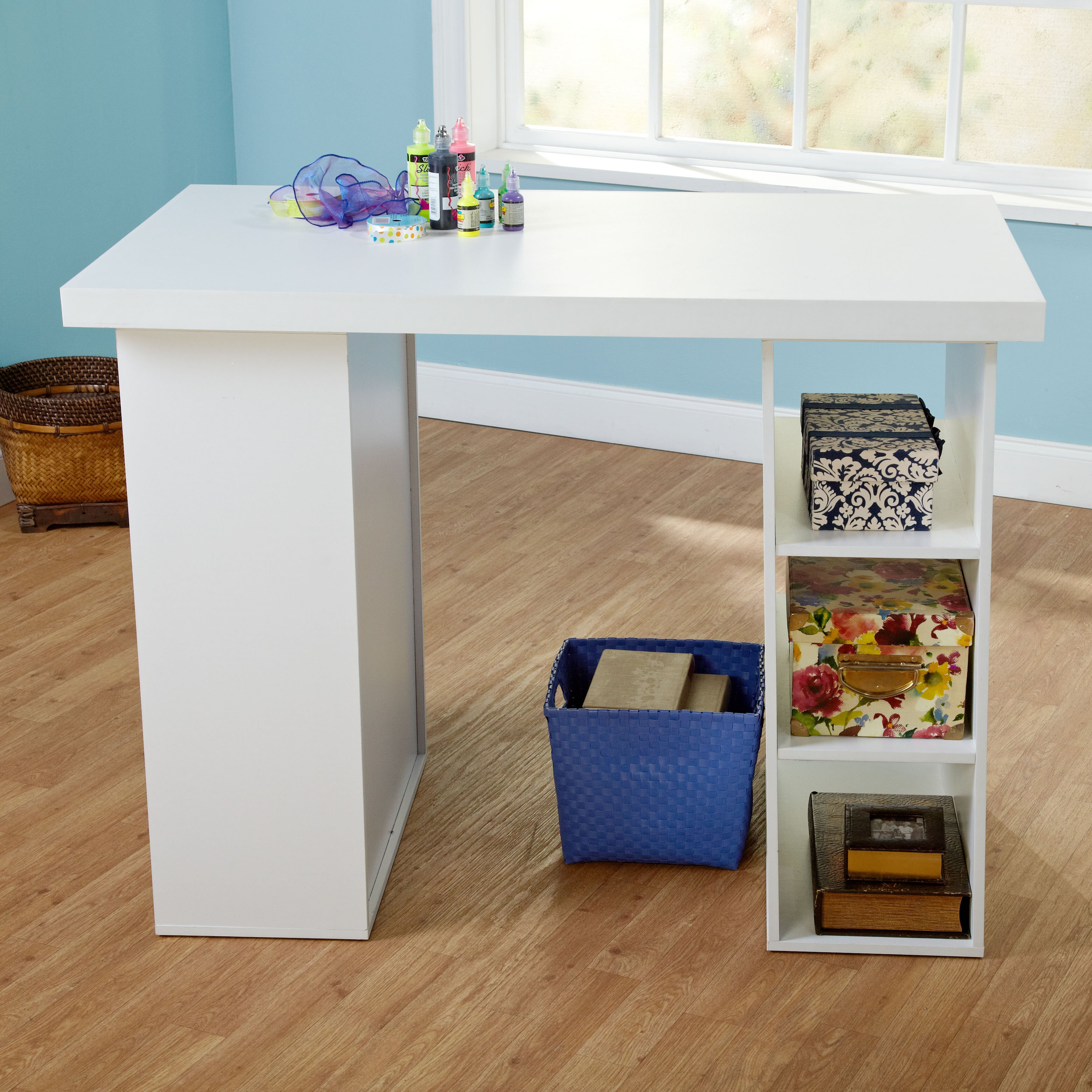 tms wood craft table reviews wayfair. Black Bedroom Furniture Sets. Home Design Ideas