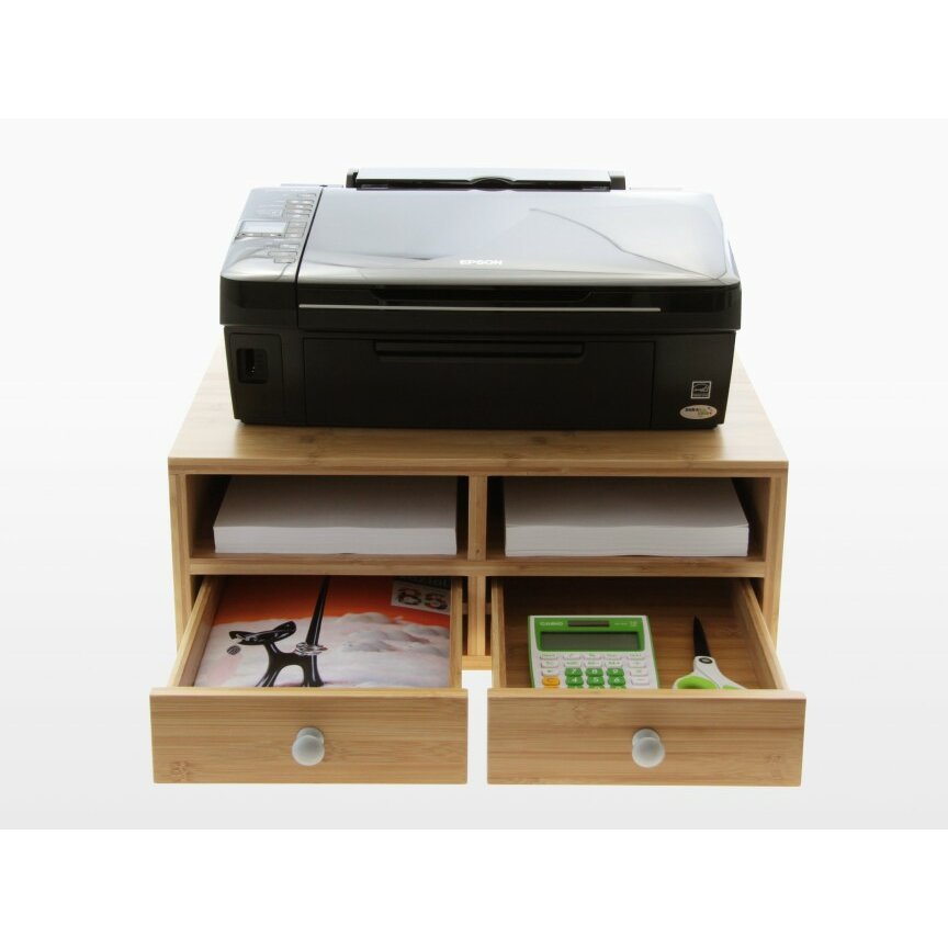 Woodquail Printer Stand With Drawers Wayfair UK