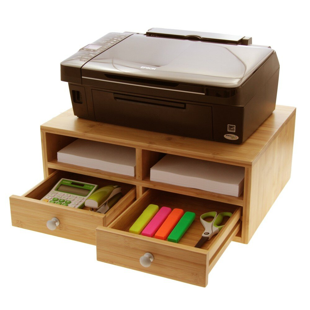 Woodquail Printer Stand with Drawers   Wayfair UK