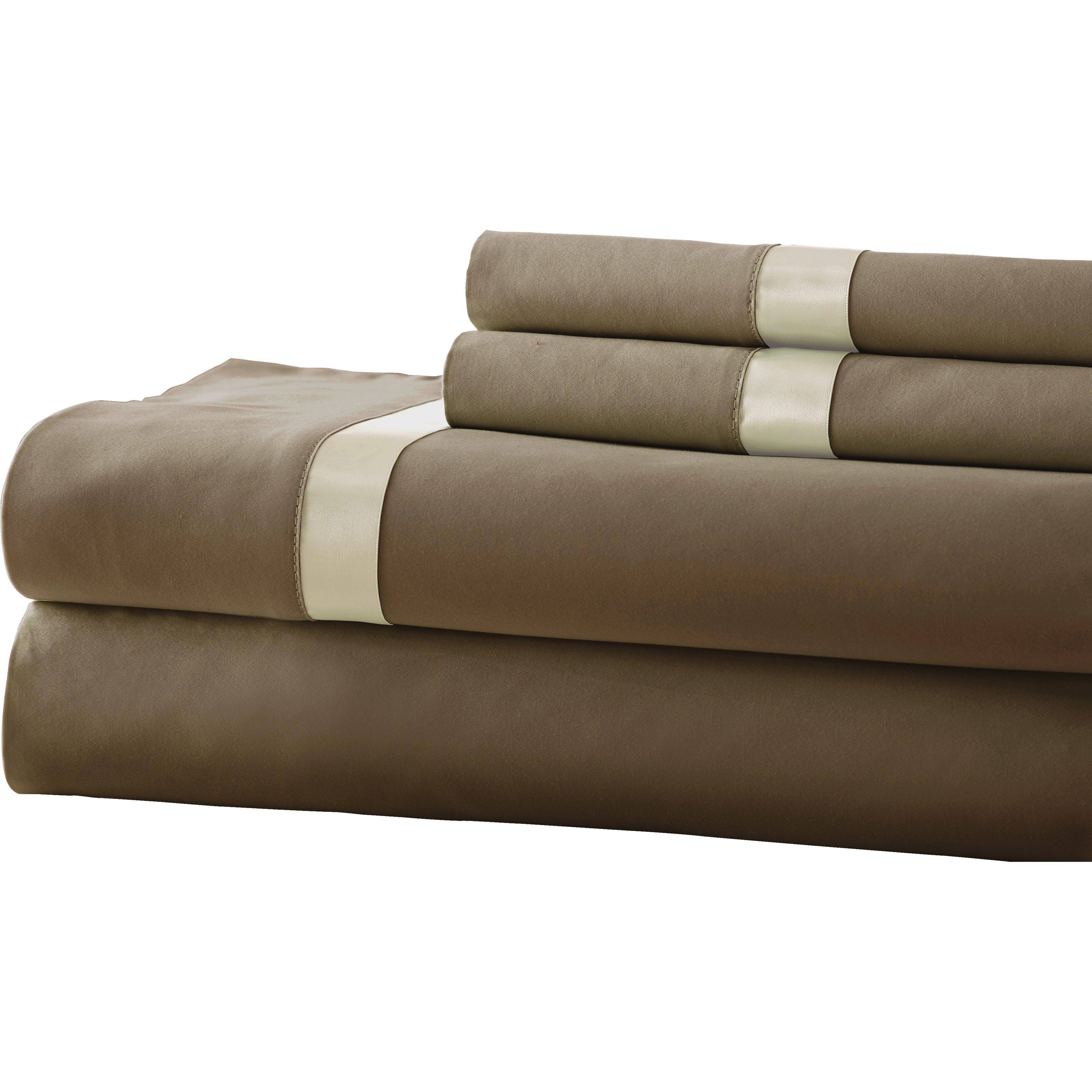 amrapur fine linens 400 thread count sheet set reviews wayfair. Black Bedroom Furniture Sets. Home Design Ideas