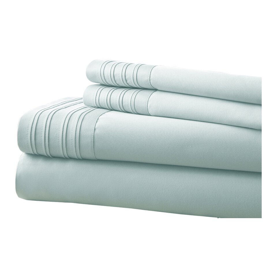 Amrapur Fine Linens 1000 Thread Count 4 Piece Sheet Set