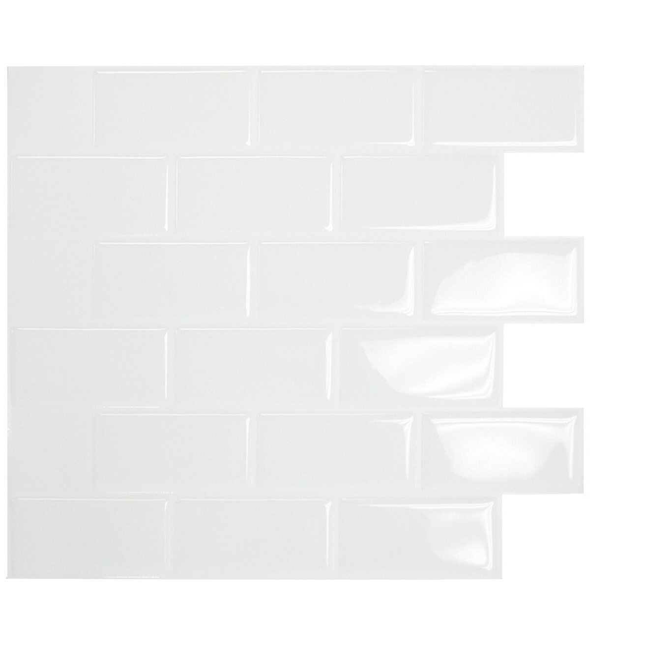 smart tiles mosaik subway white x peel stick wal
