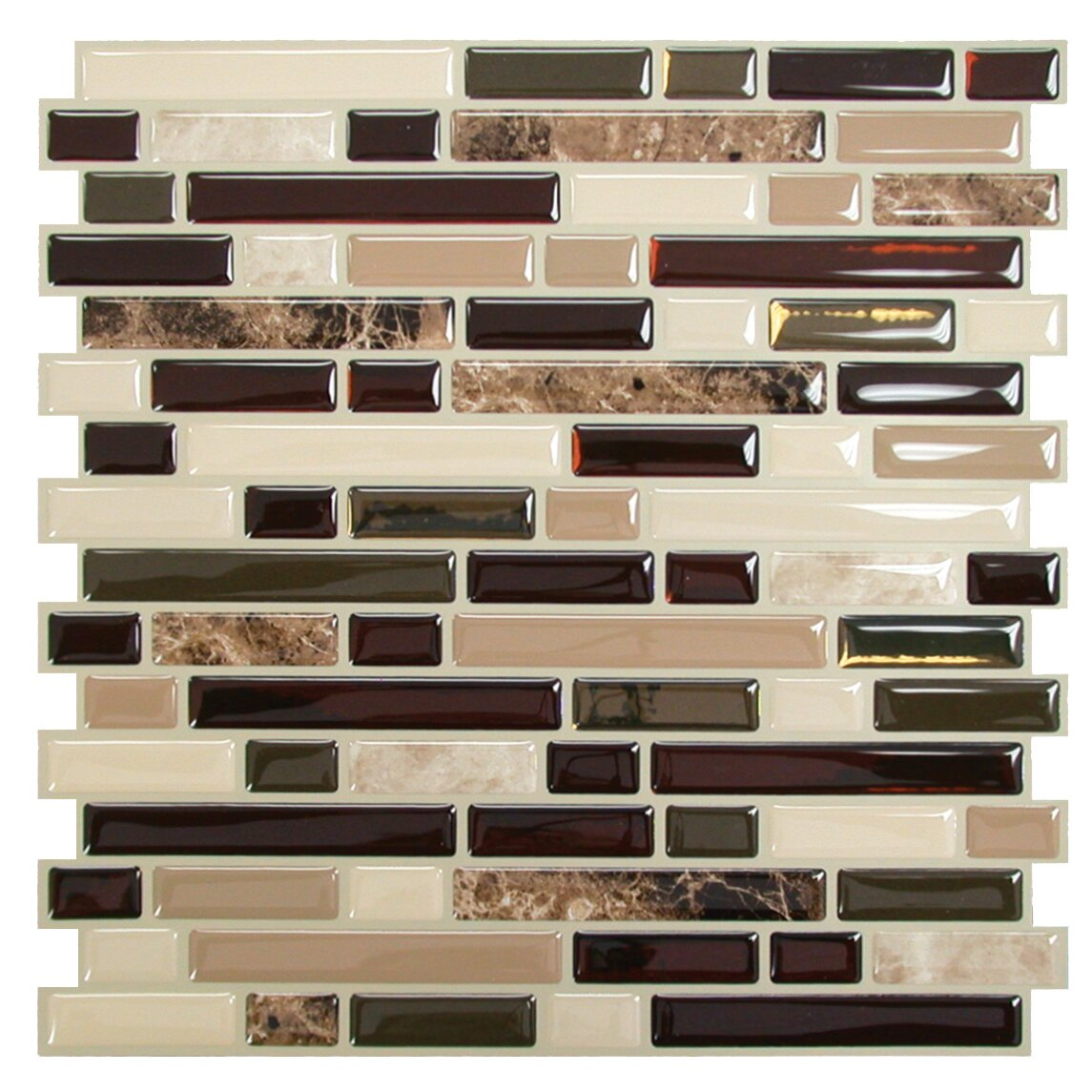 "Peel And Stick Flooring Accent 1 2 Wall: Smart Tiles Mosaik Bellagio Keystone 10.06"" X 10"" Peel"