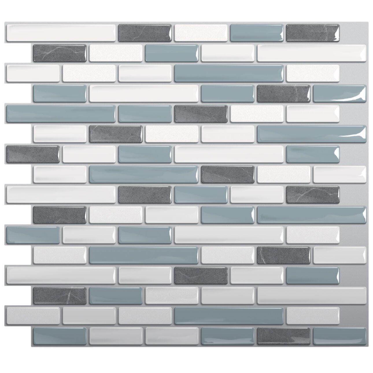 Smart tiles mosaik muretto brina x peel for Peel and stick tile