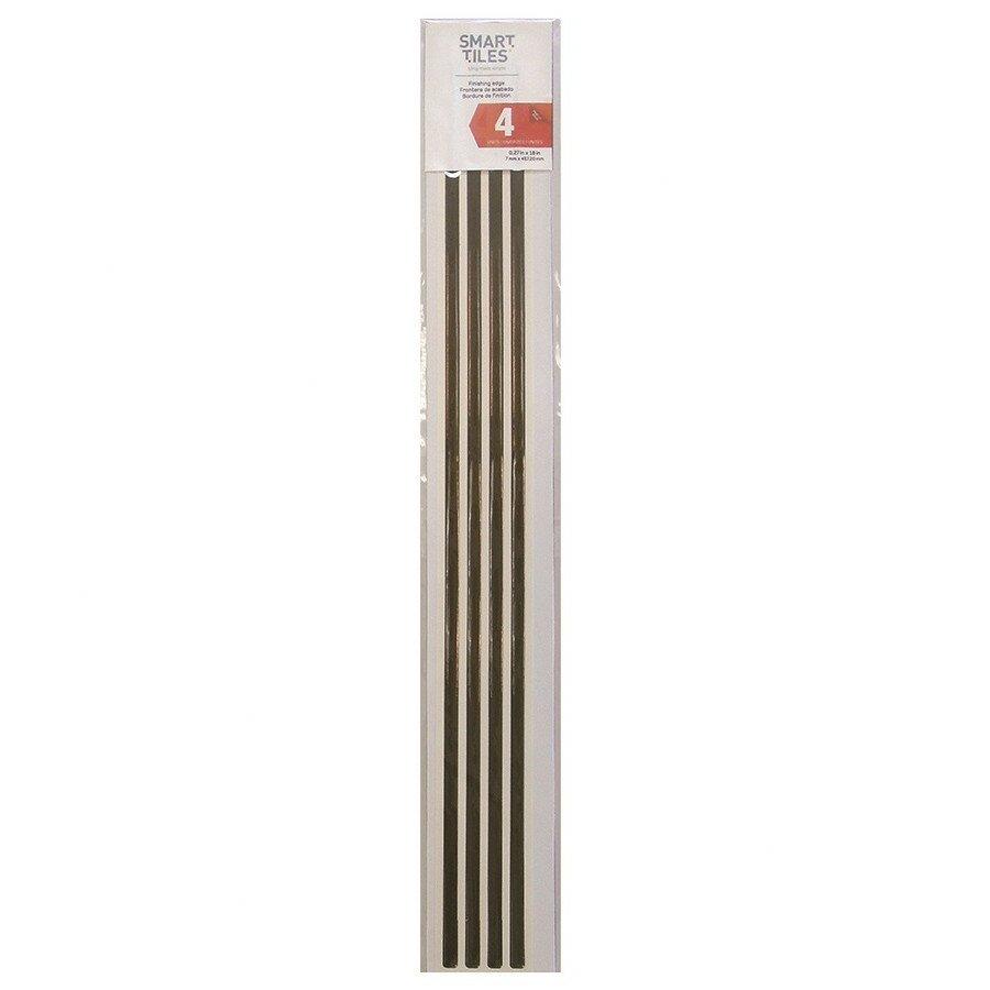 smart tiles smart edge x 18 peel stick finishing trim in bronze reviews wayfair. Black Bedroom Furniture Sets. Home Design Ideas