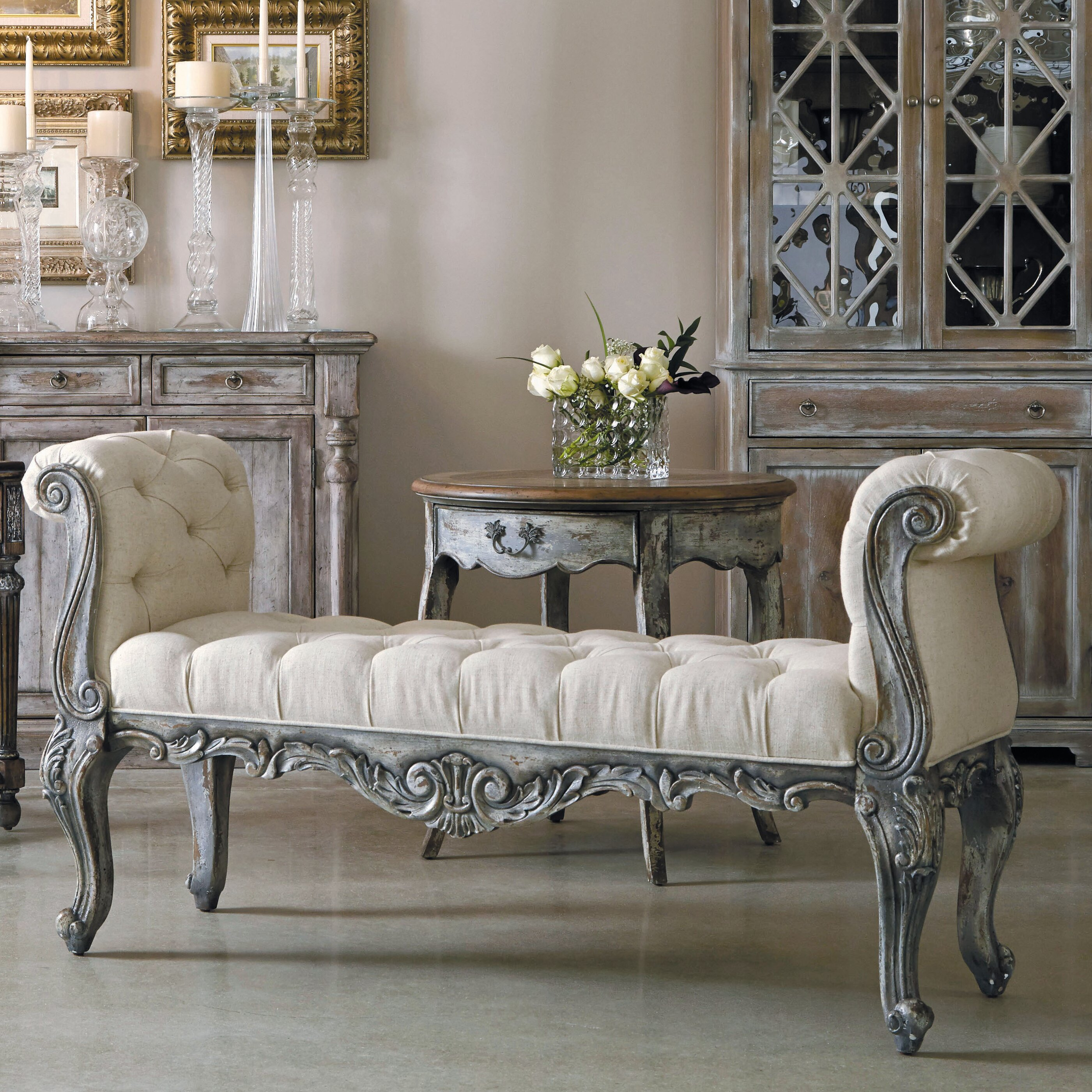 Bedroom Bench Ideas Bedroom Sets Living Spaces Bedroom Colour Ideas Grey And Purple Simple Bedroom Arrangement Ideas: Accentrics By Pulaski St. Tropez Upholstered Bedroom Bench