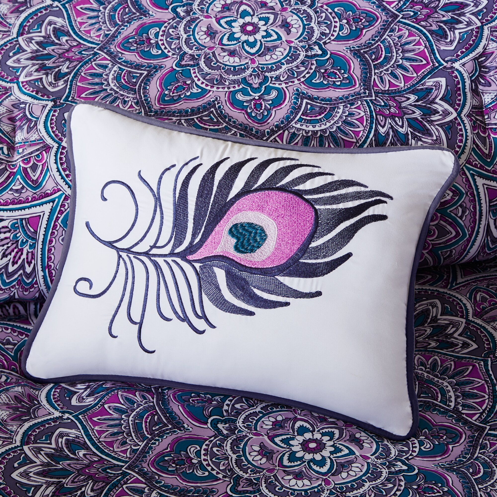 intelligent design mila comforter set reviews wayfair. Black Bedroom Furniture Sets. Home Design Ideas