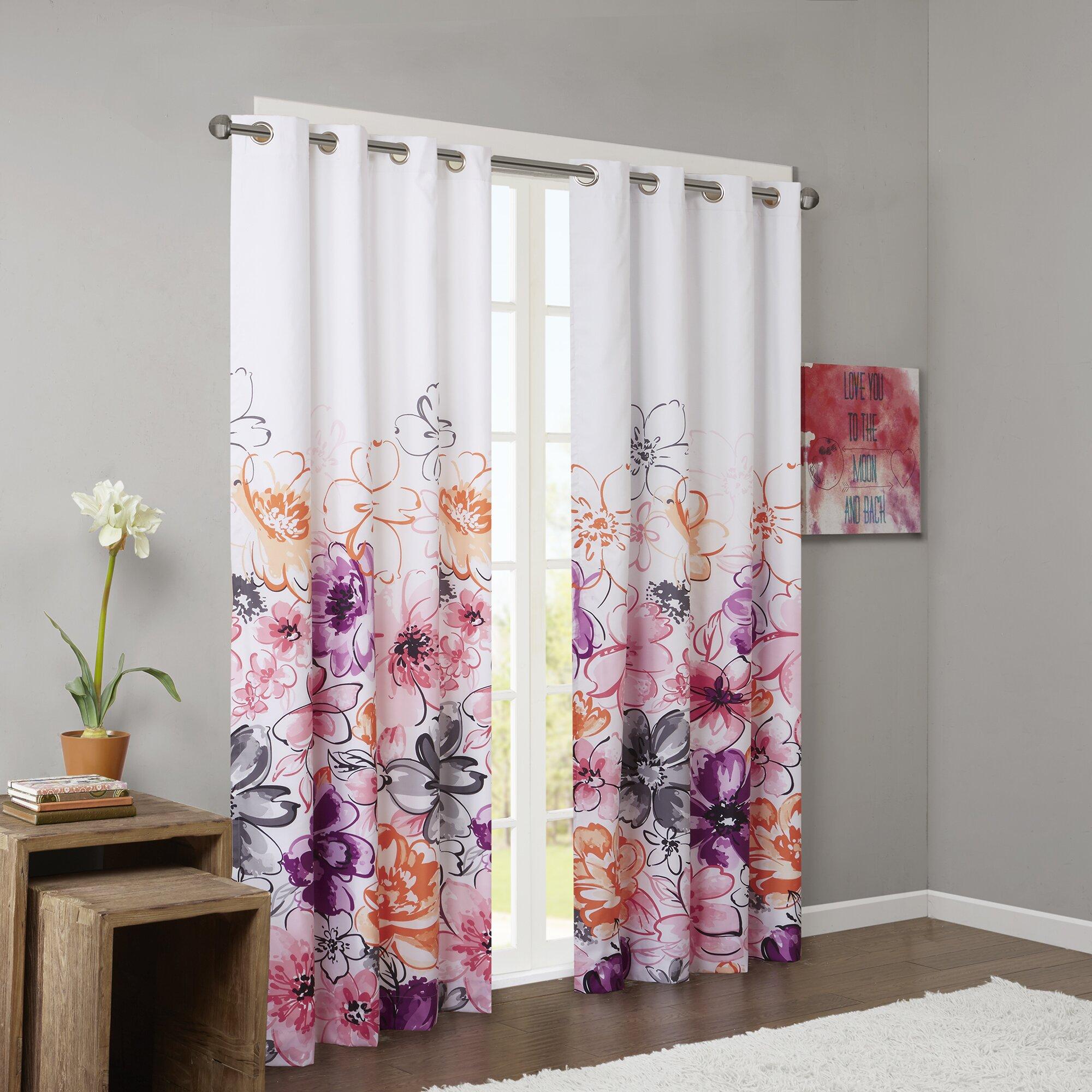 Intelligent Design Olivia Blackout Single Curtain Panel