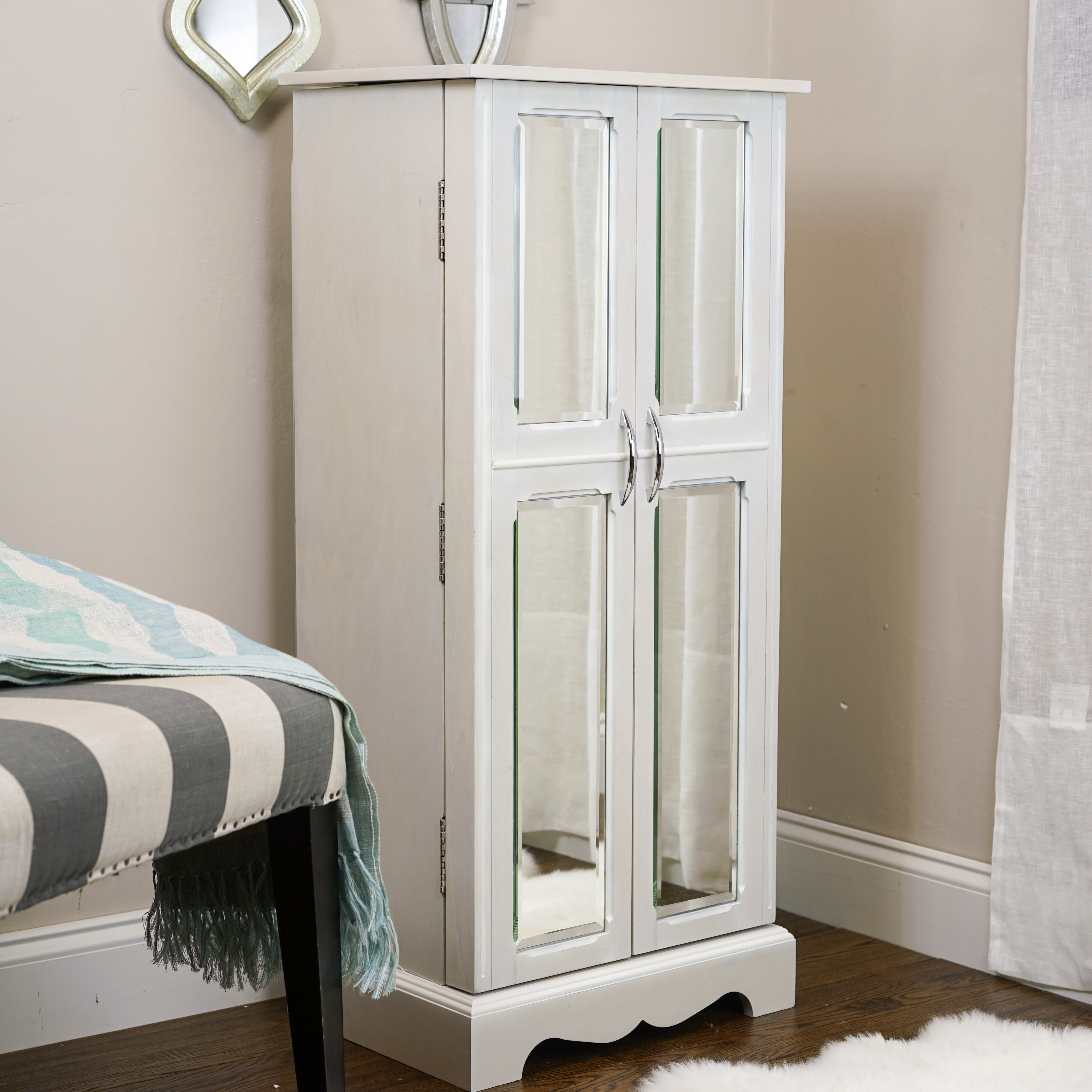 hives honey chelsea jewelry armoire with mirror. Black Bedroom Furniture Sets. Home Design Ideas
