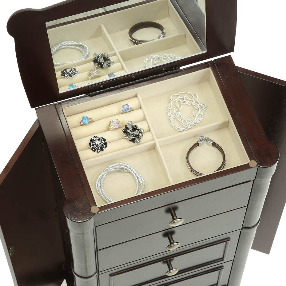 Hives & Honey Ella Jewelry Armoire with Mirror & Reviews ...