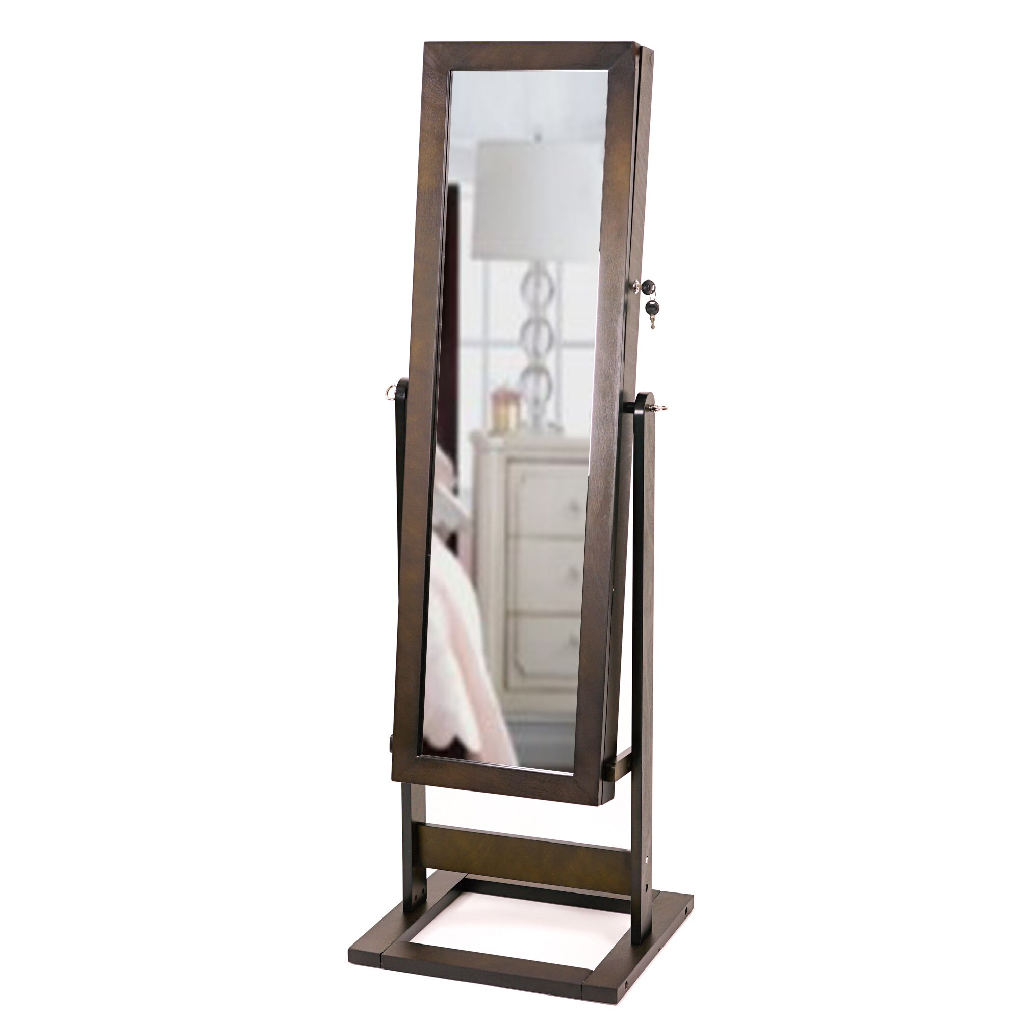Hives Honey Trinity Cheval Jewelry Armoire With Mirror