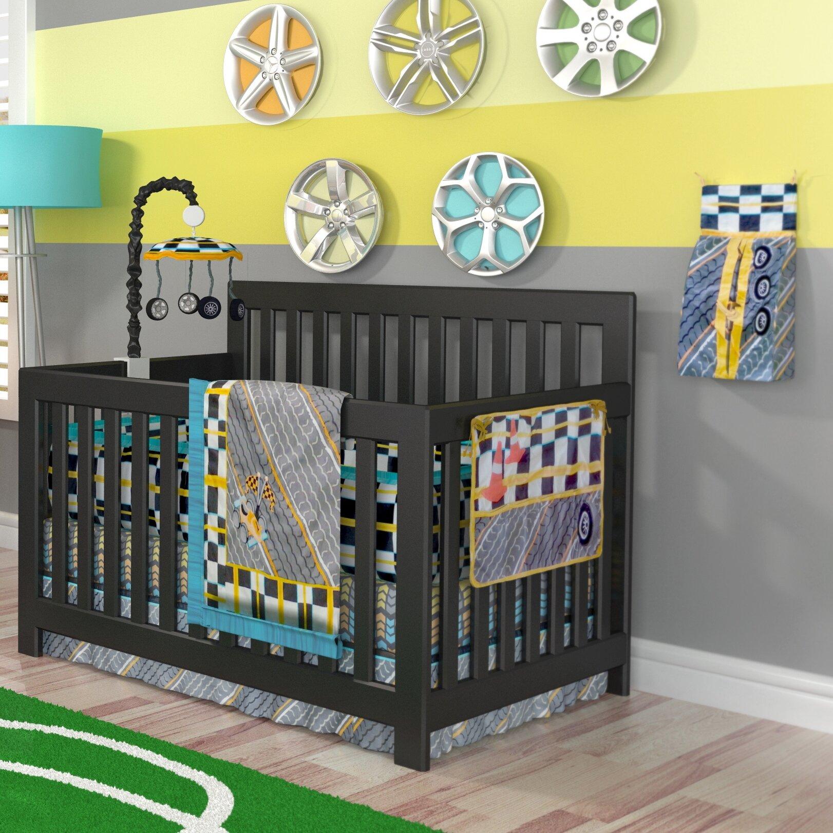 Car Crib Sheet : Dk leigh tiny turbo piece crib bedding set reviews