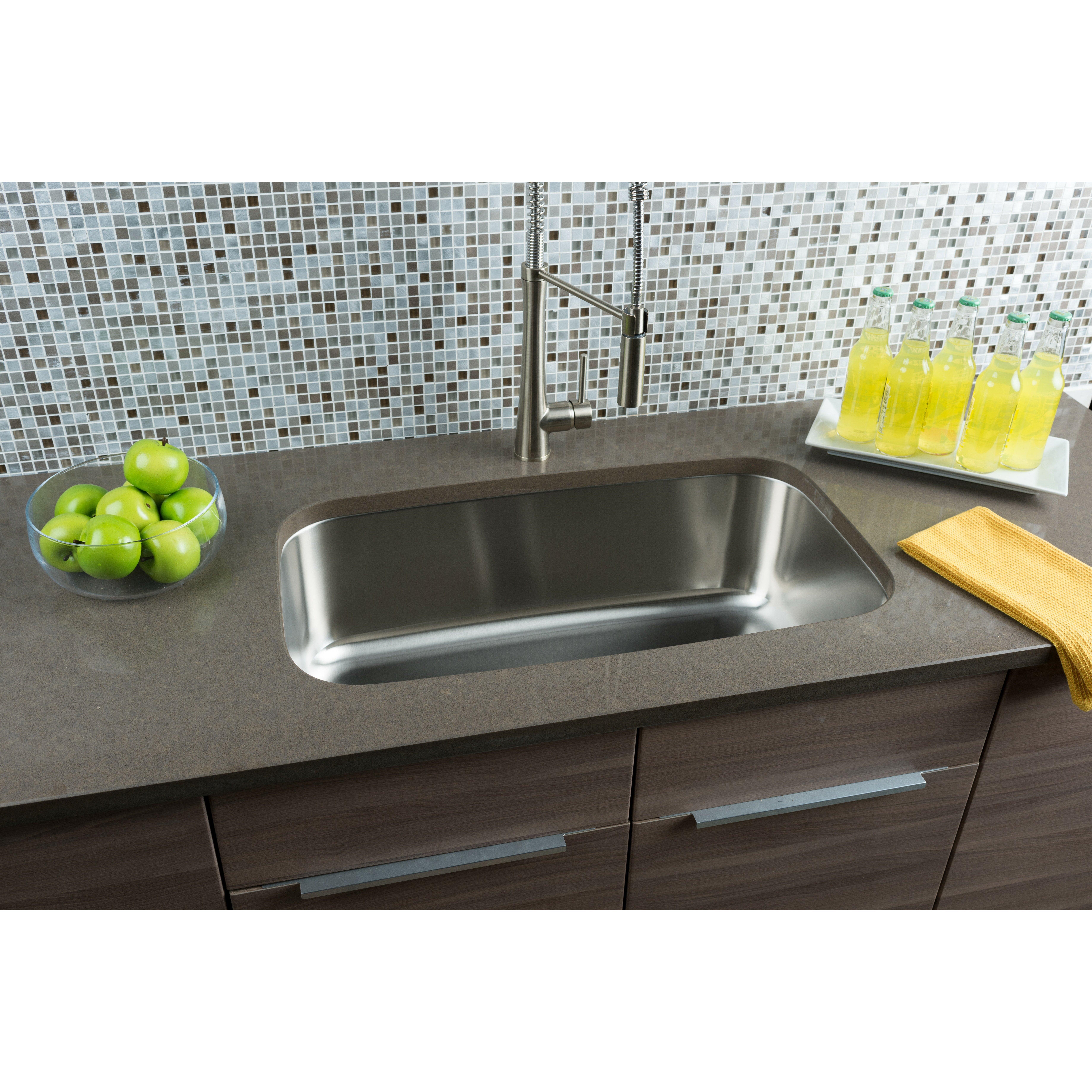 Hahn Kitchen Sinks : Hahn Classic Chef Series Single Bowl Kitchen Sink & Reviews Wayfair