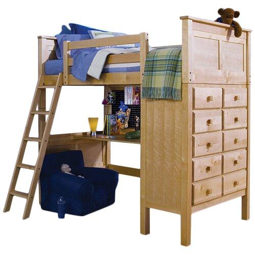 Epoch Design Kenai Twin Loft Storage Bed With Ladder