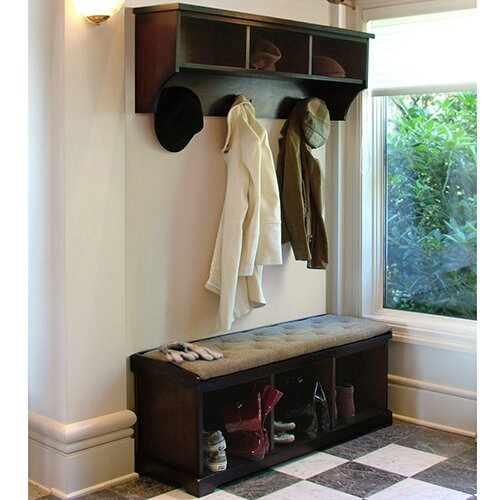Foyer Mudroom Review : Epoch design brookwood wooden storage entryway bench