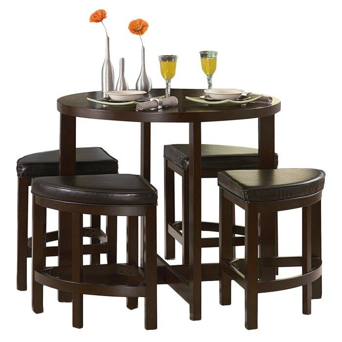 Counter Height Entertainment Center : ... Hill Brussel II 5 Piece Counter Height Dining Set & Reviews Wayfair