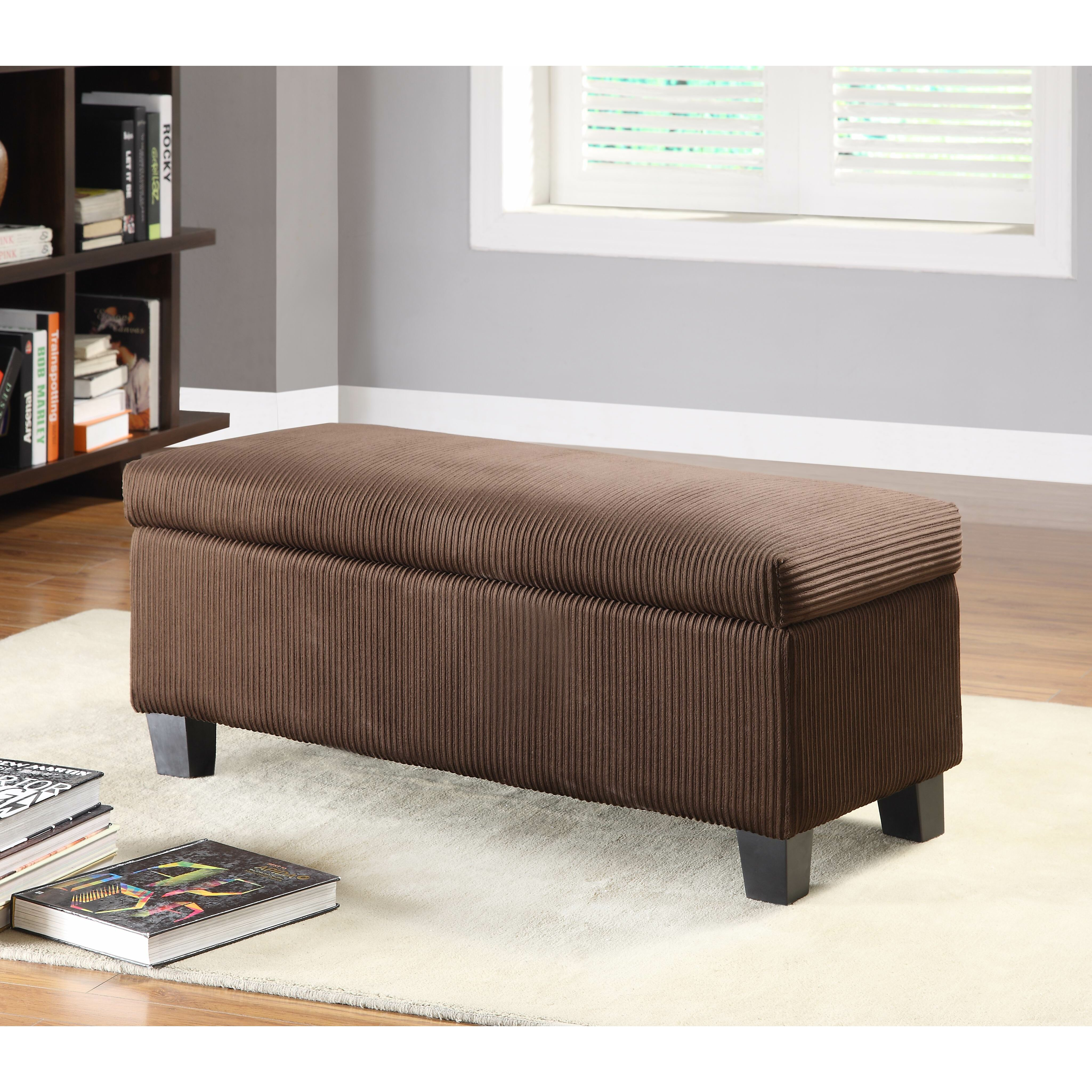 Woodbridge Home Designs Furniture Woodhaven Hill Clair New Fabric Bedroom Storage Ottoman