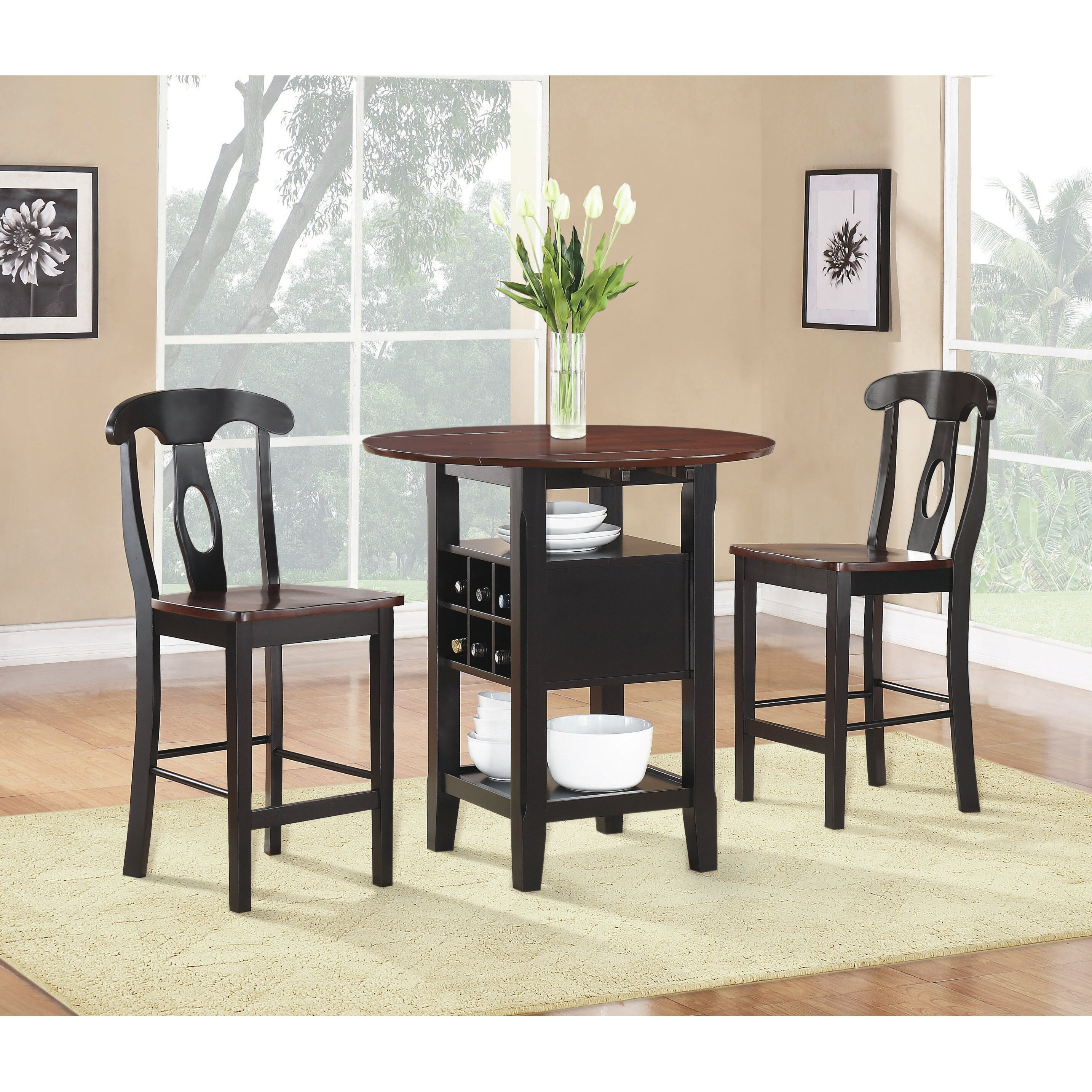 woodhaven hill atwood 3 piece counter height dining set reviews wayfair. Black Bedroom Furniture Sets. Home Design Ideas