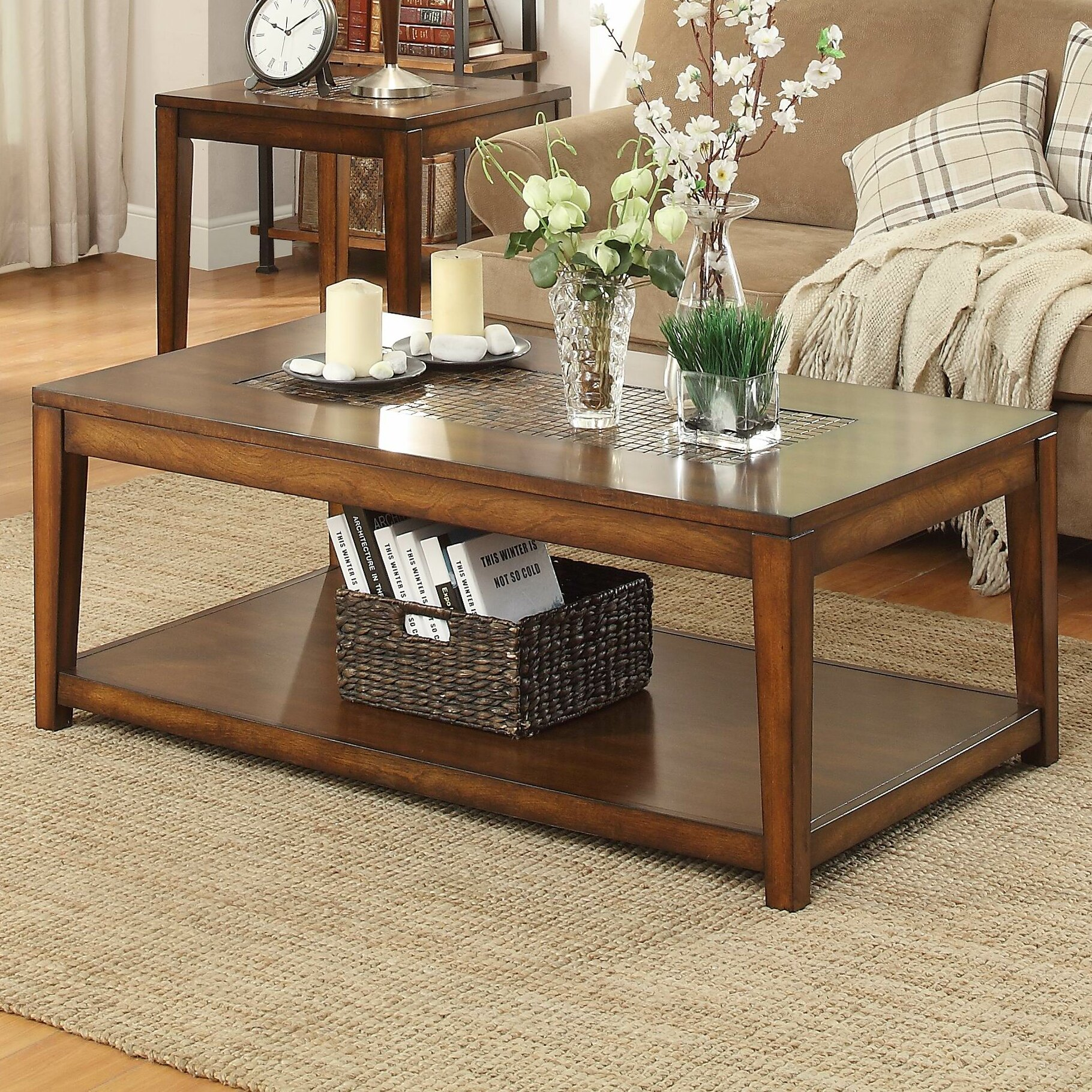 Woodhaven hill antoni coffee table wayfair - Woodbridge home designs avalon coffee table ...