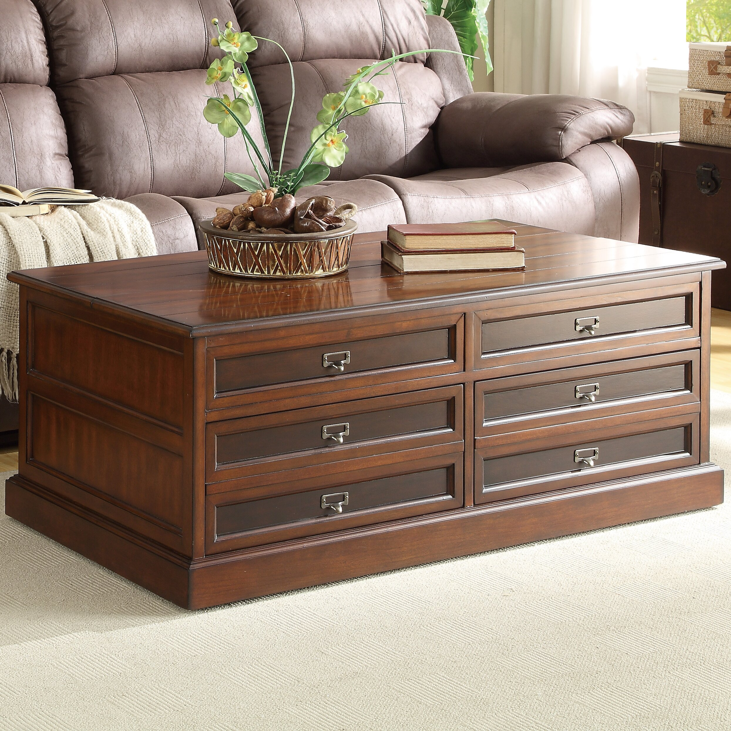 Woodhaven Hill Friedrich Coffee Table with Lift Top