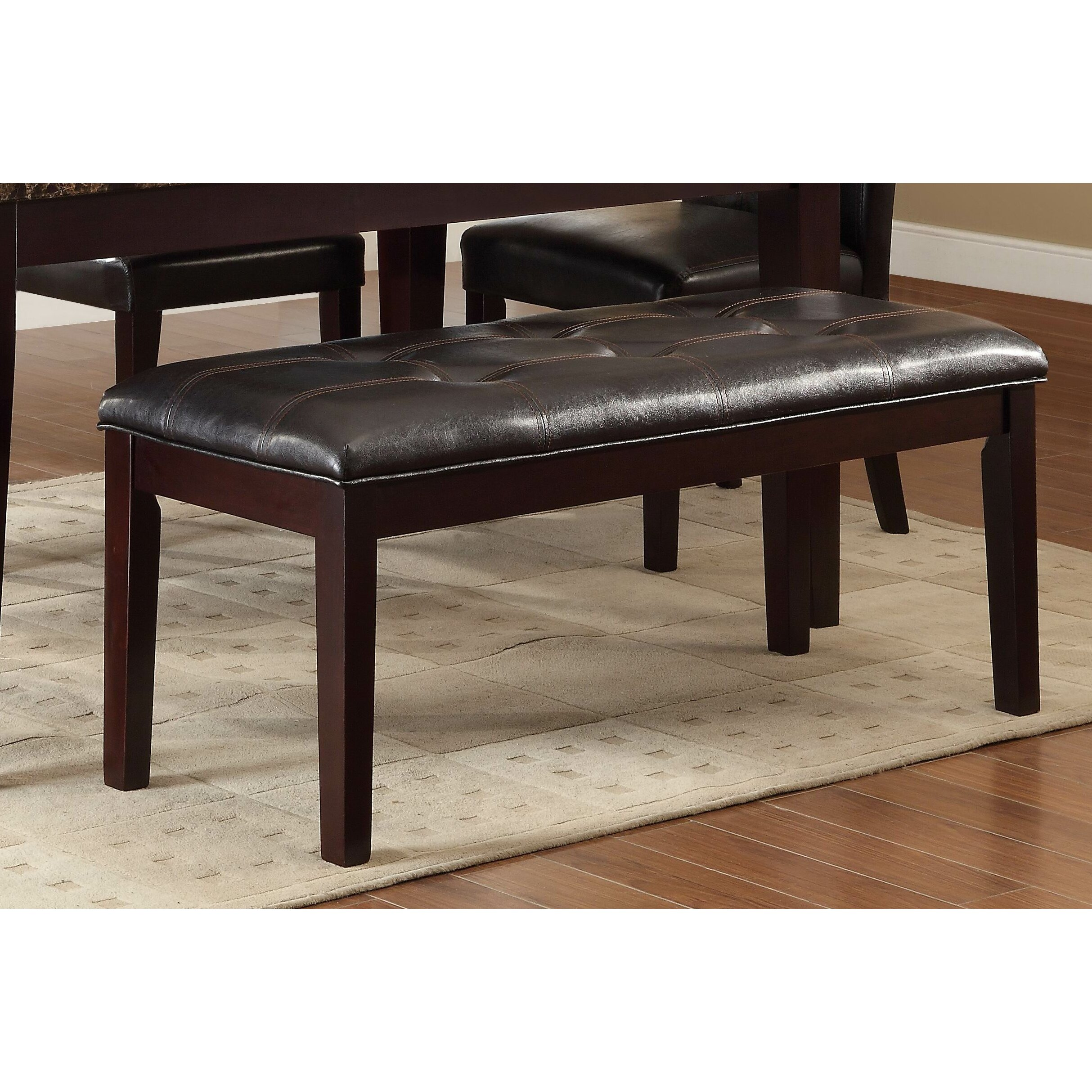 Woodhaven Hill Teague Upholstered Kitchen Bench & Reviews