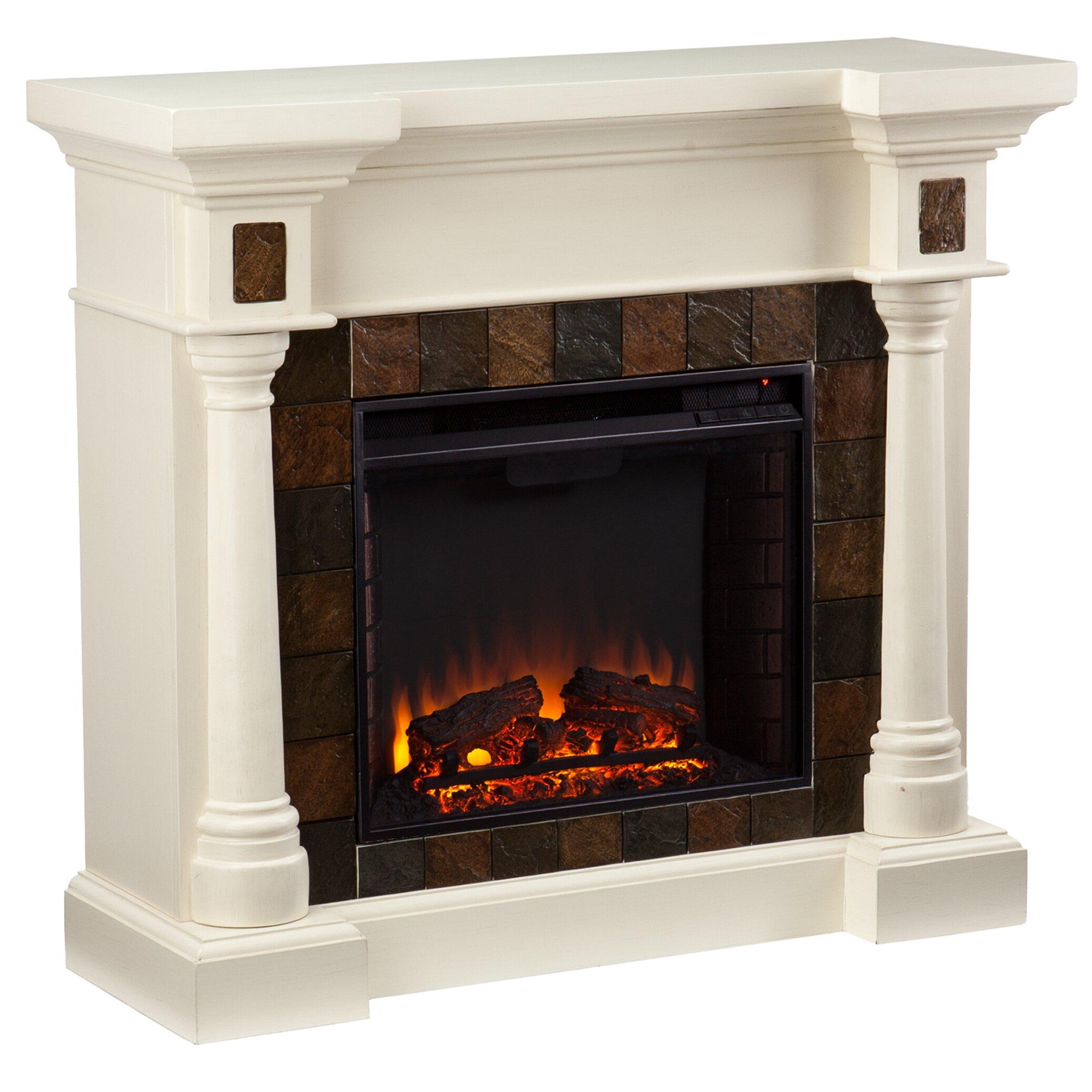 Wayfair Com Sales: Woodhaven Hill Clark Electric Fireplace & Reviews