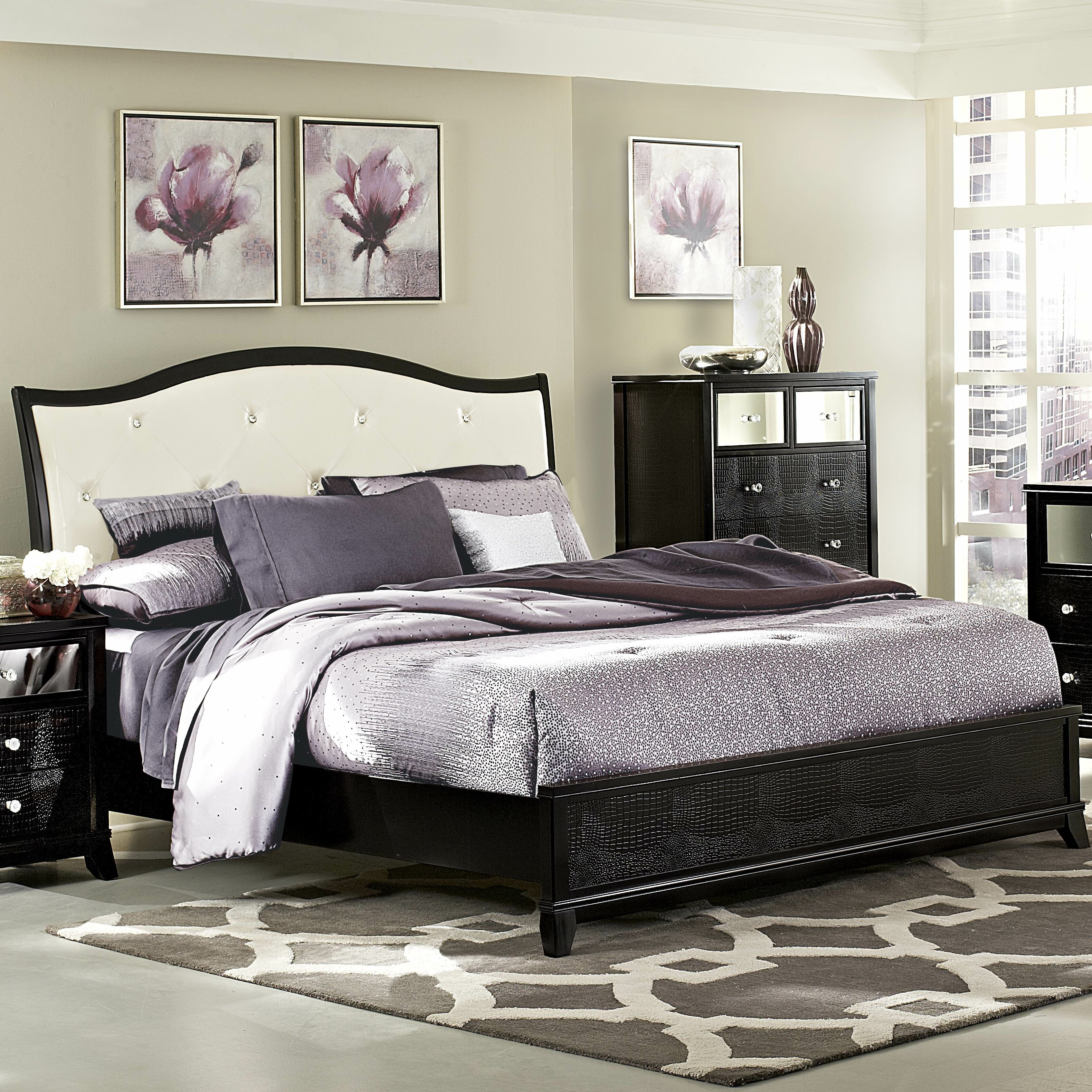 Woodhaven Hill Jacqueline Upholstered Panel Bed Amp Reviews
