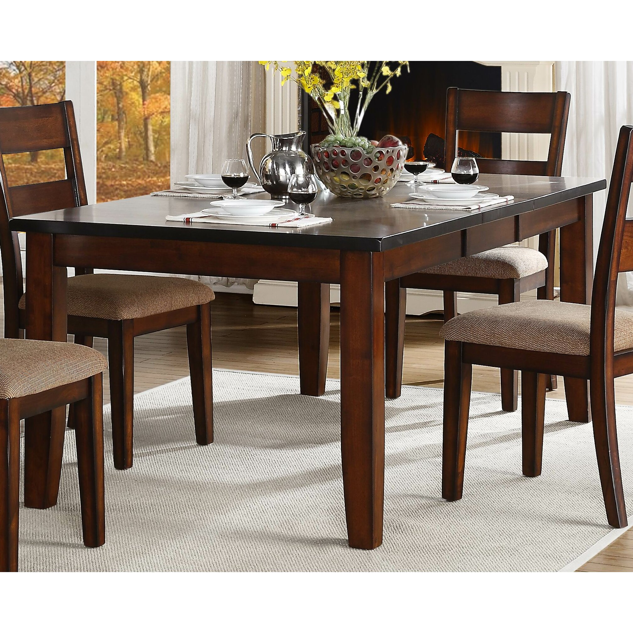 Red Dining Set