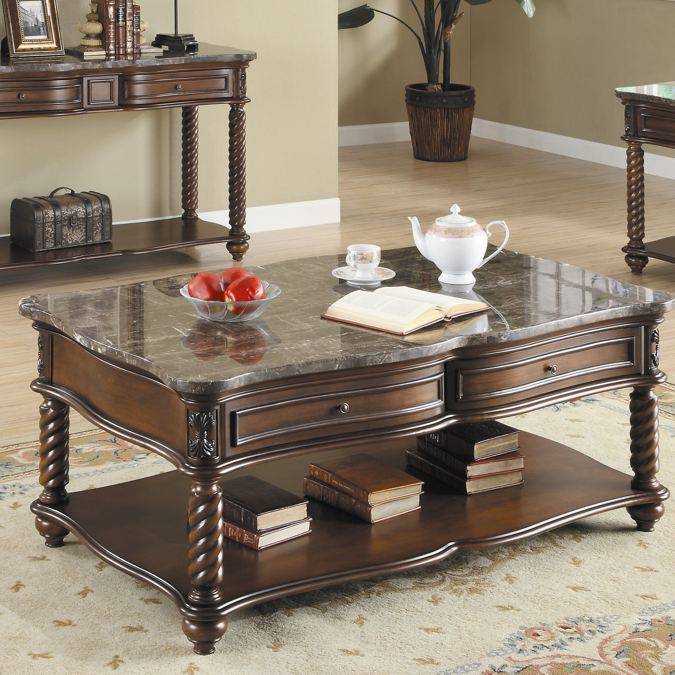 Woodhaven hill lockwood coffee table reviews wayfair - Woodbridge home designs avalon coffee table ...