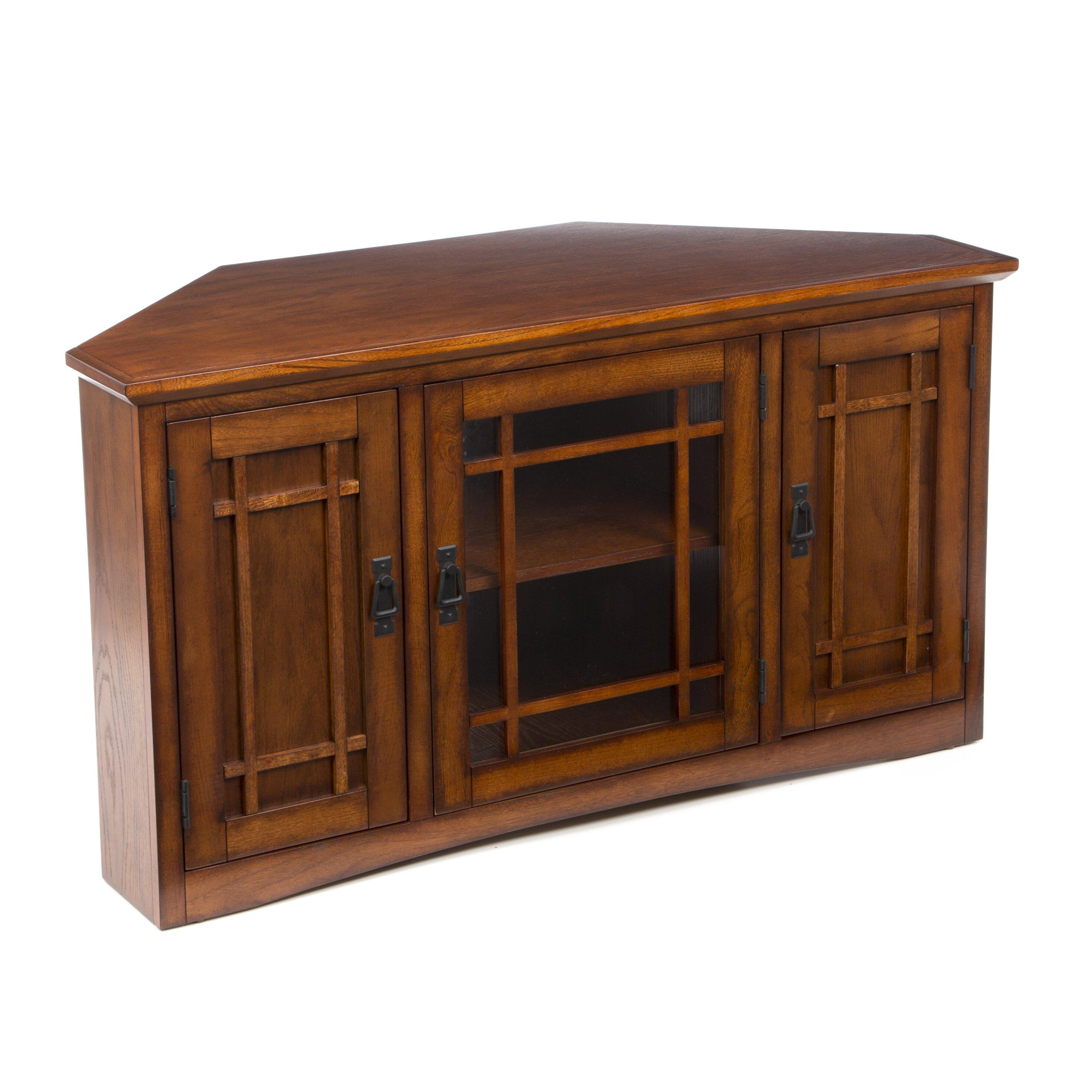 charlton home stodeley corner tv stand reviews wayfair. Black Bedroom Furniture Sets. Home Design Ideas