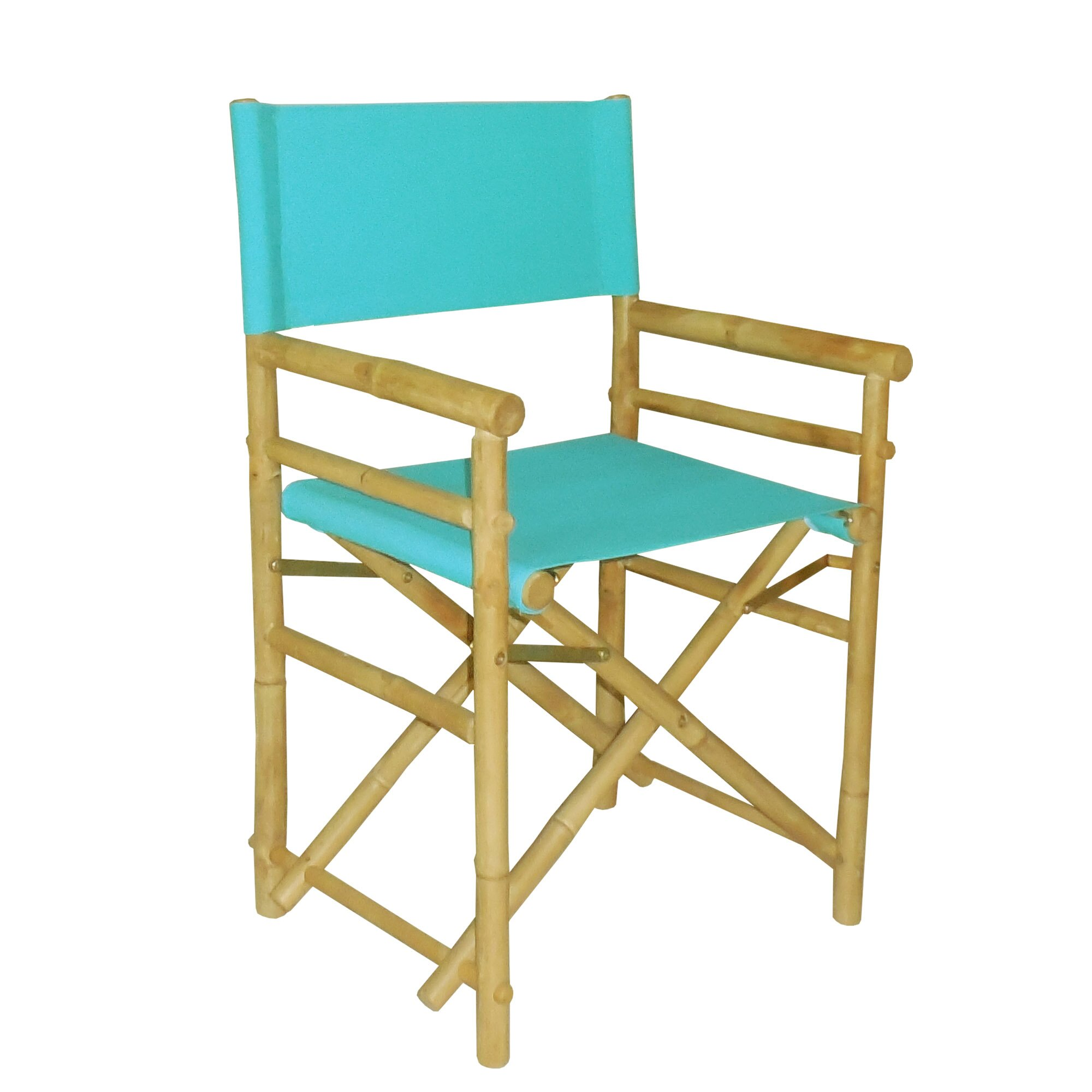 ZEW Hand Crafted Outdoor Indoor Bamboo Director Chair & Reviews