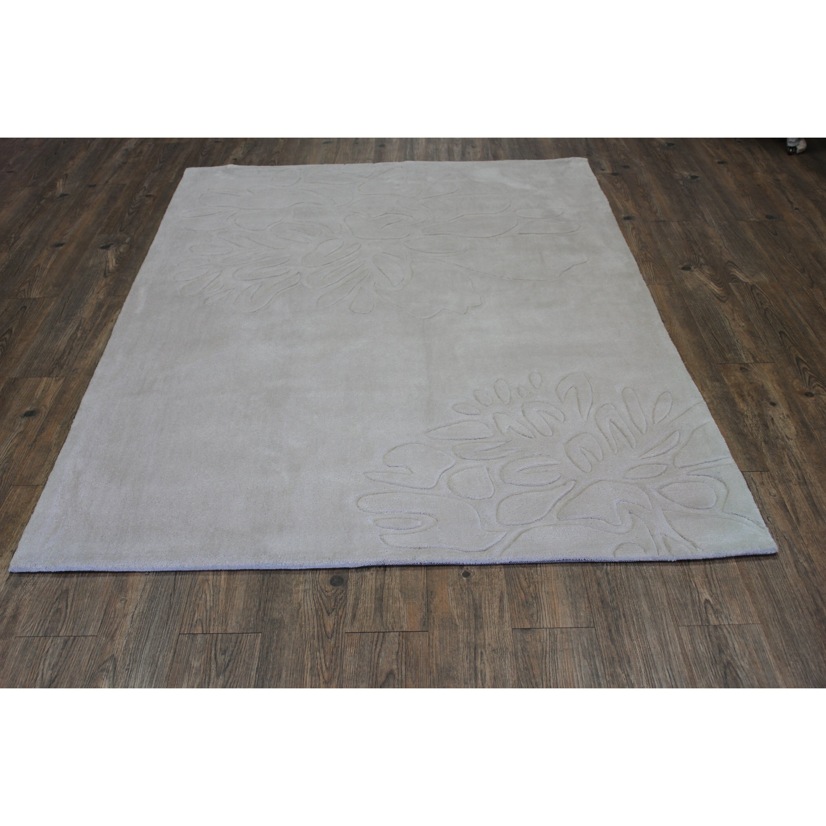 Throw Rugs Secure: Rug Factory Plus Transition Hand-Tufted Beige Area Rug