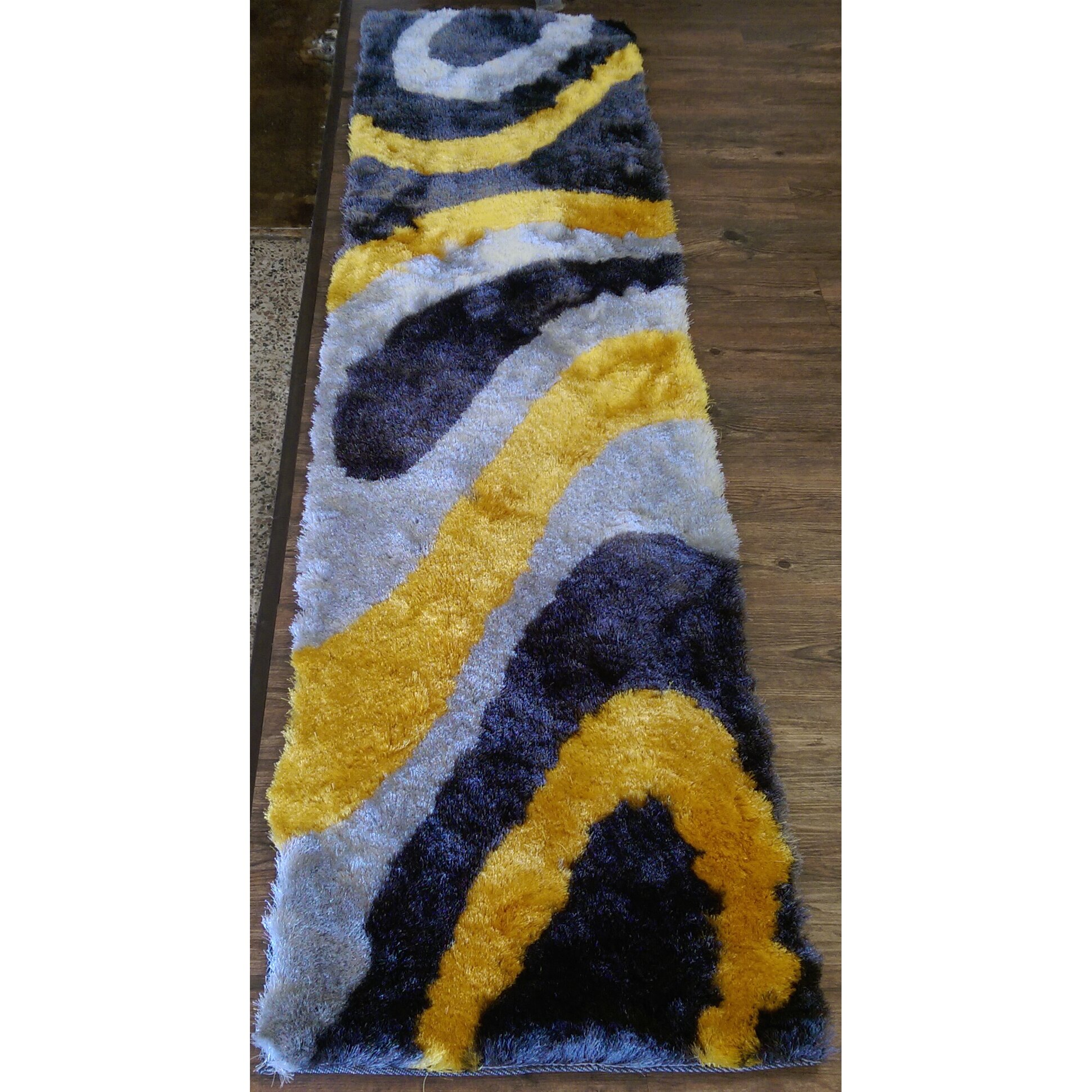 rug factory plus hand tufted gray yellow area rug wayfair. Black Bedroom Furniture Sets. Home Design Ideas