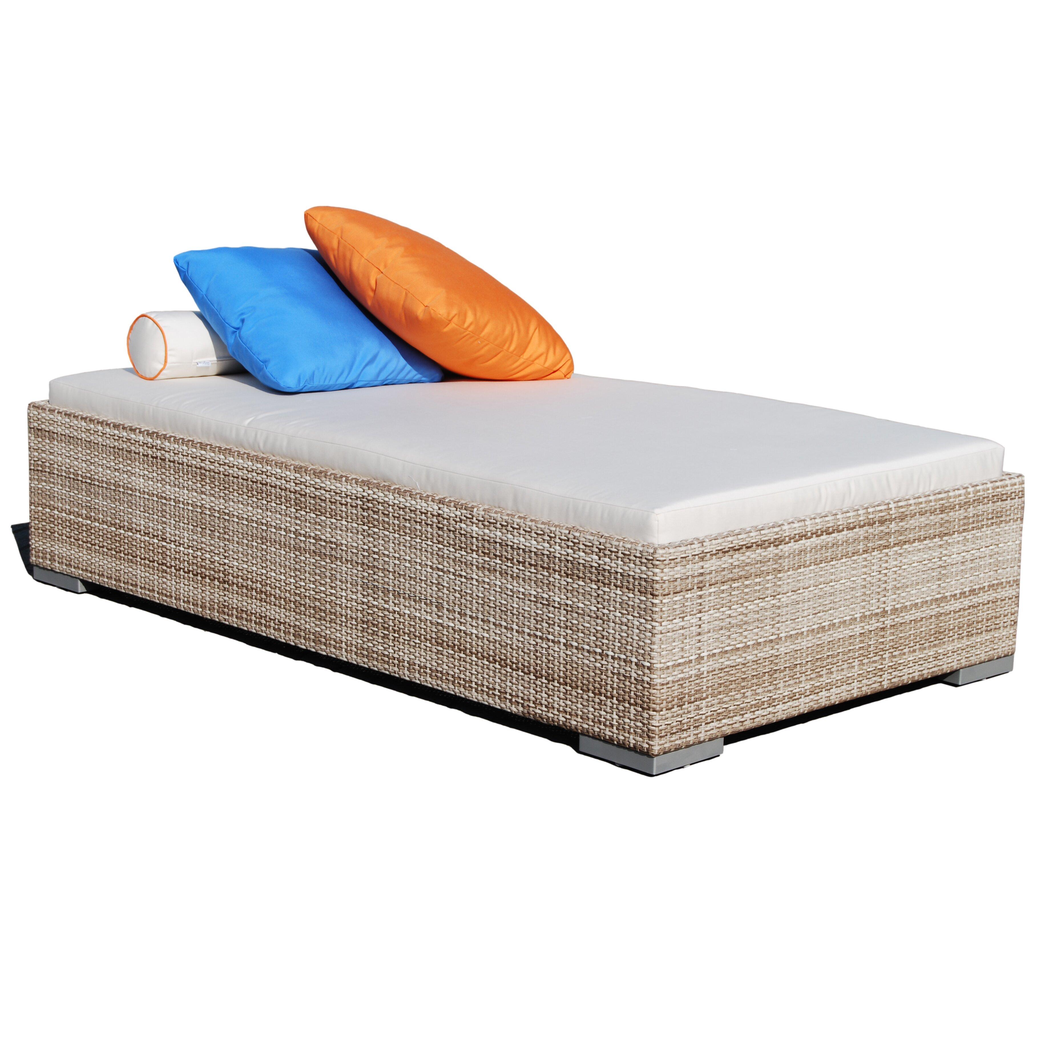 Dann foley brentwood chaise lounge with cushion wayfair for Chaise longue cushion