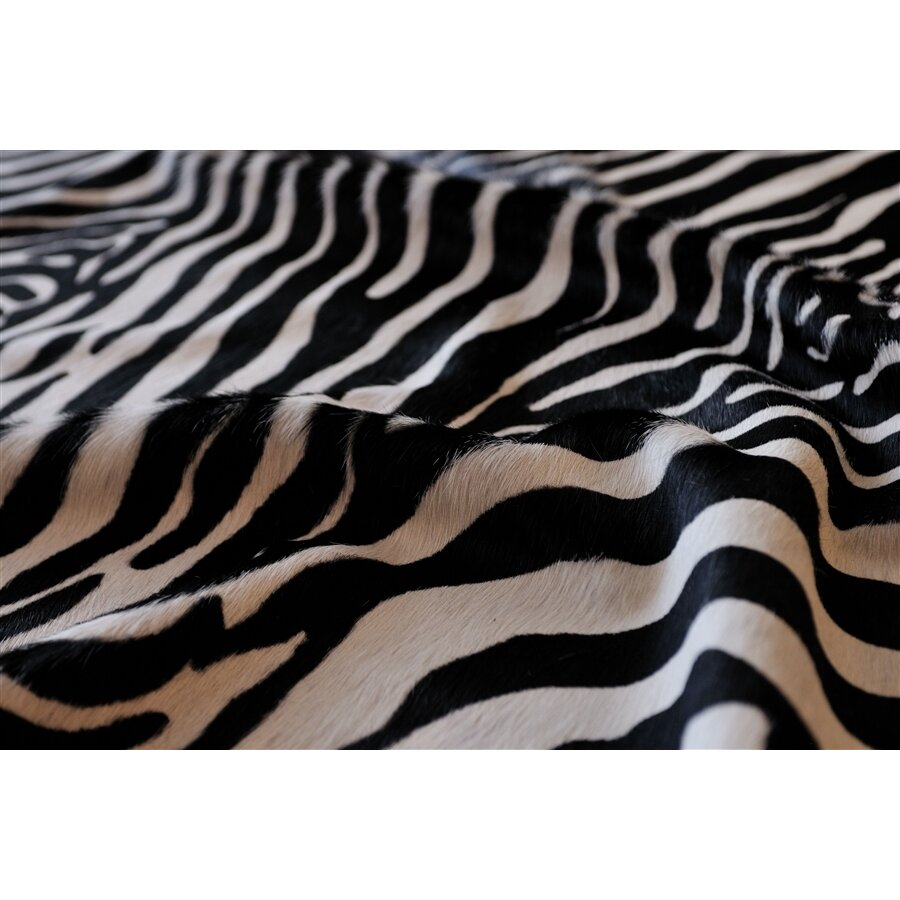 Natural Rugs Togo Black/Off-White Zebra Rug & Reviews