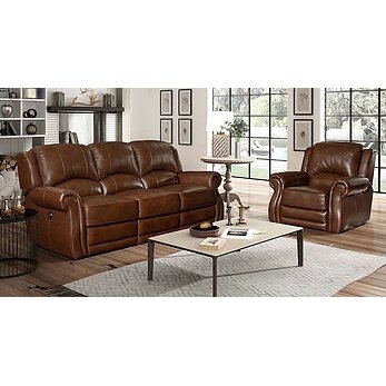 Barcalounger cedar hill casual comforts power living room for Casual living room furniture
