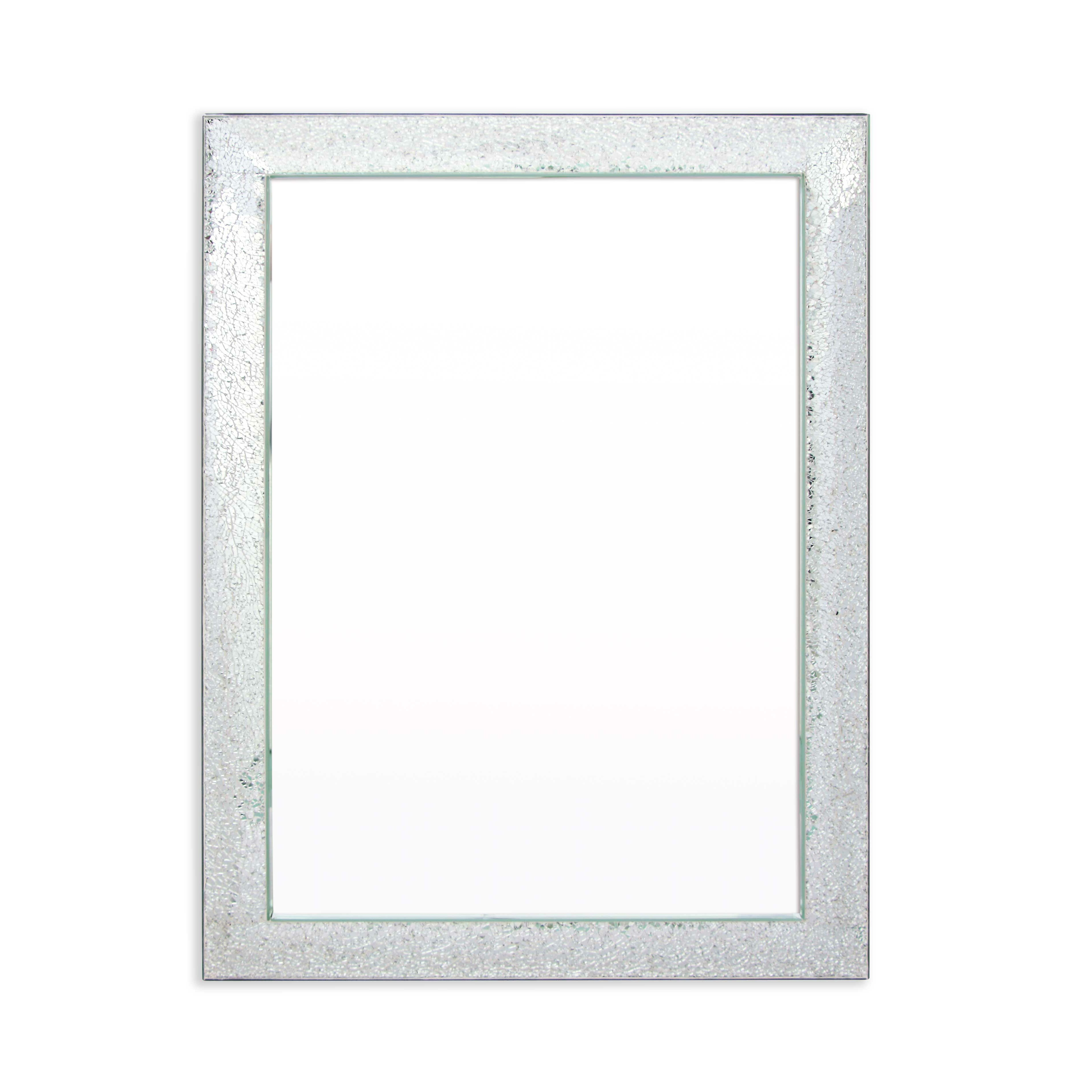 Selections by chaumont deluxe mosaic glass rectangle for Rectangle mirror