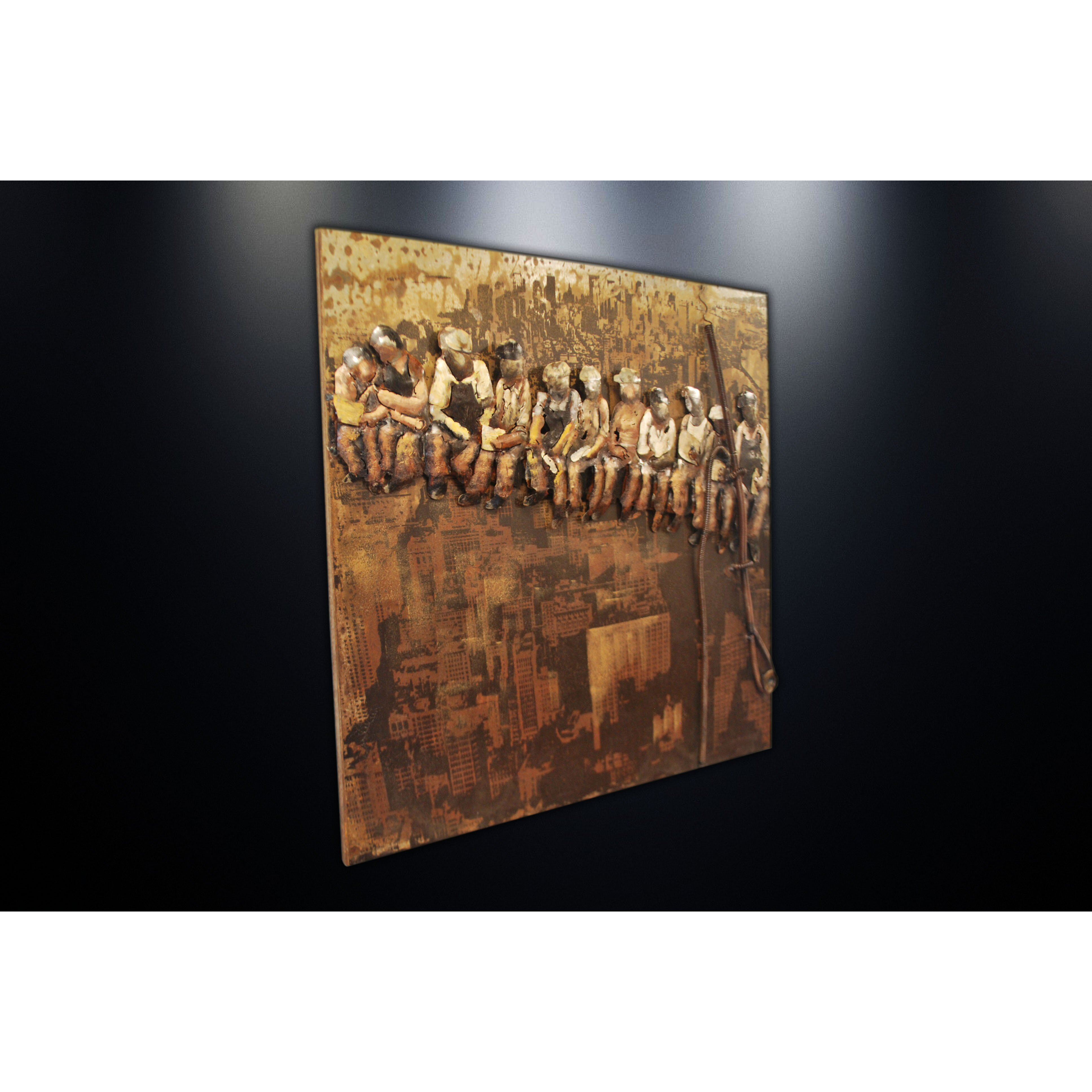 Home Decor Wall Groupings : Dsd group metal wall art sculpture home decor lunch on a